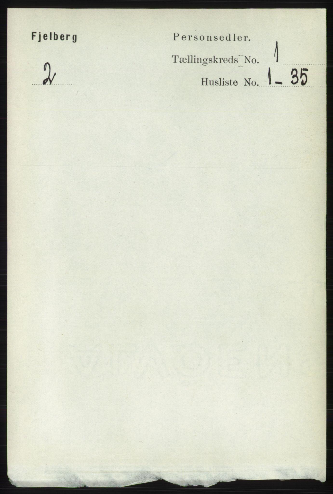 RA, Folketelling 1891 for 1213 Fjelberg herred, 1891, s. 100