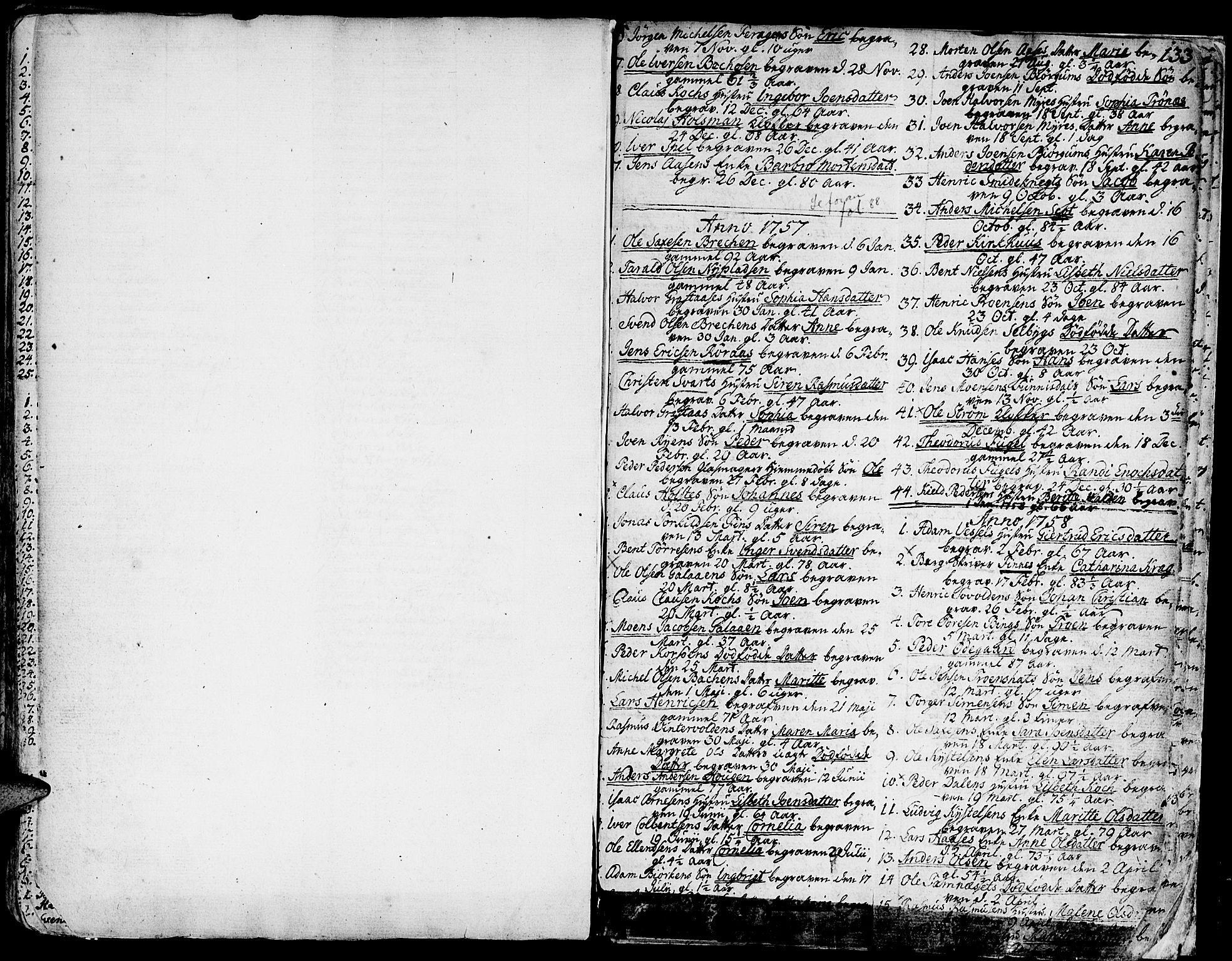 SAT, Ministerialprotokoller, klokkerbøker og fødselsregistre - Sør-Trøndelag, 681/L0925: Ministerialbok nr. 681A03, 1727-1766, s. 133
