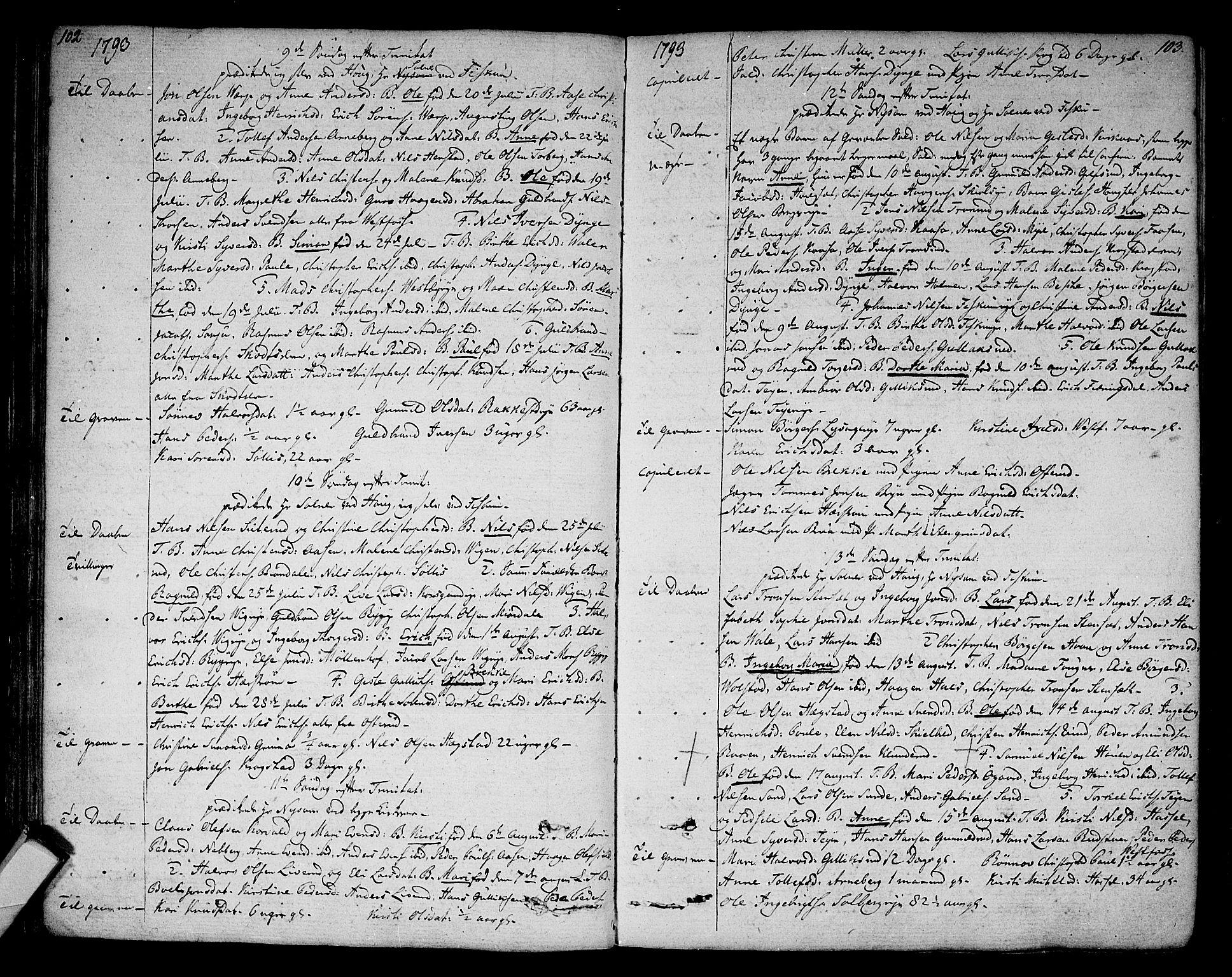 SAKO, Eiker kirkebøker, F/Fa/L0009: Ministerialbok nr. I 9, 1789-1806, s. 102-103