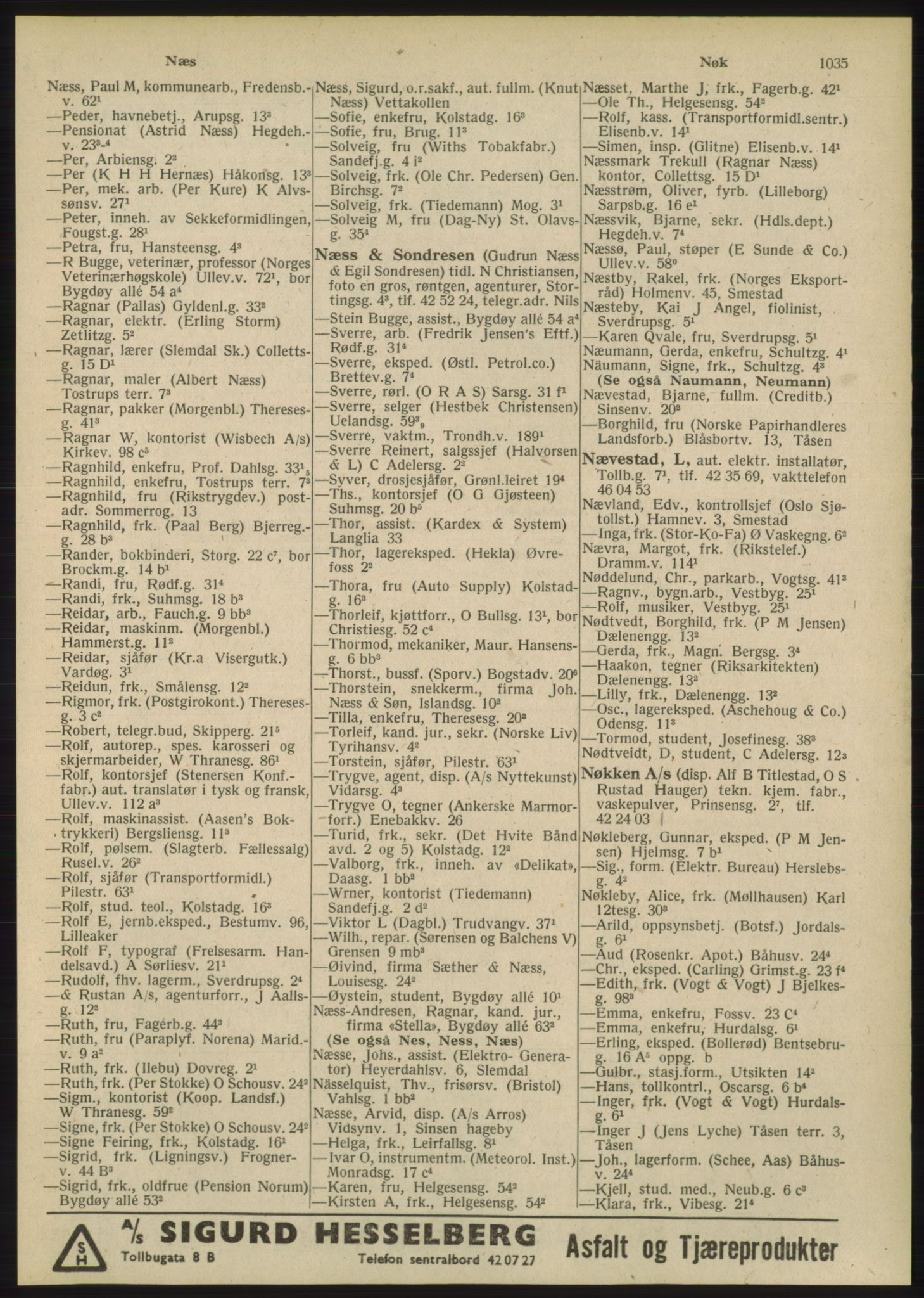 PUBL, Kristiania/Oslo adressebok, 1948, s. 1035