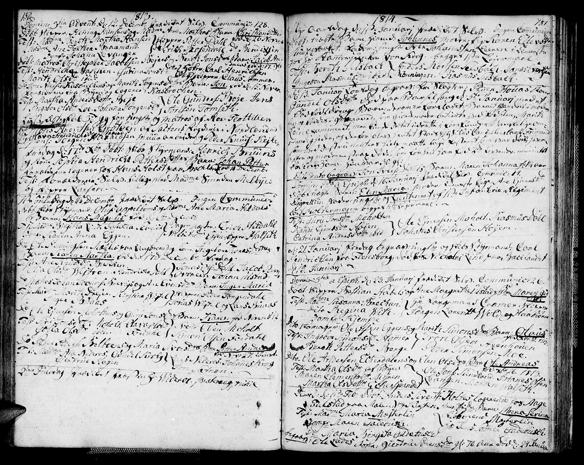 SAT, Ministerialprotokoller, klokkerbøker og fødselsregistre - Sør-Trøndelag, 604/L0181: Ministerialbok nr. 604A02, 1798-1817, s. 180-181