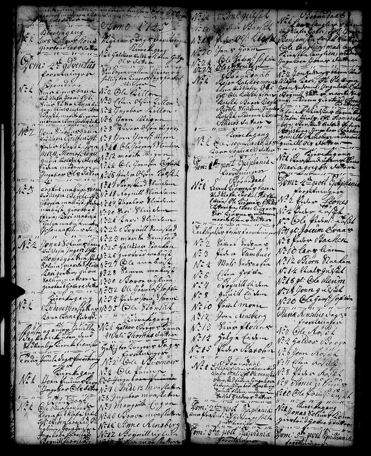 SAT, Ministerialprotokoller, klokkerbøker og fødselsregistre - Sør-Trøndelag, 695/L1150: Klokkerbok nr. 695C01, 1740-1746