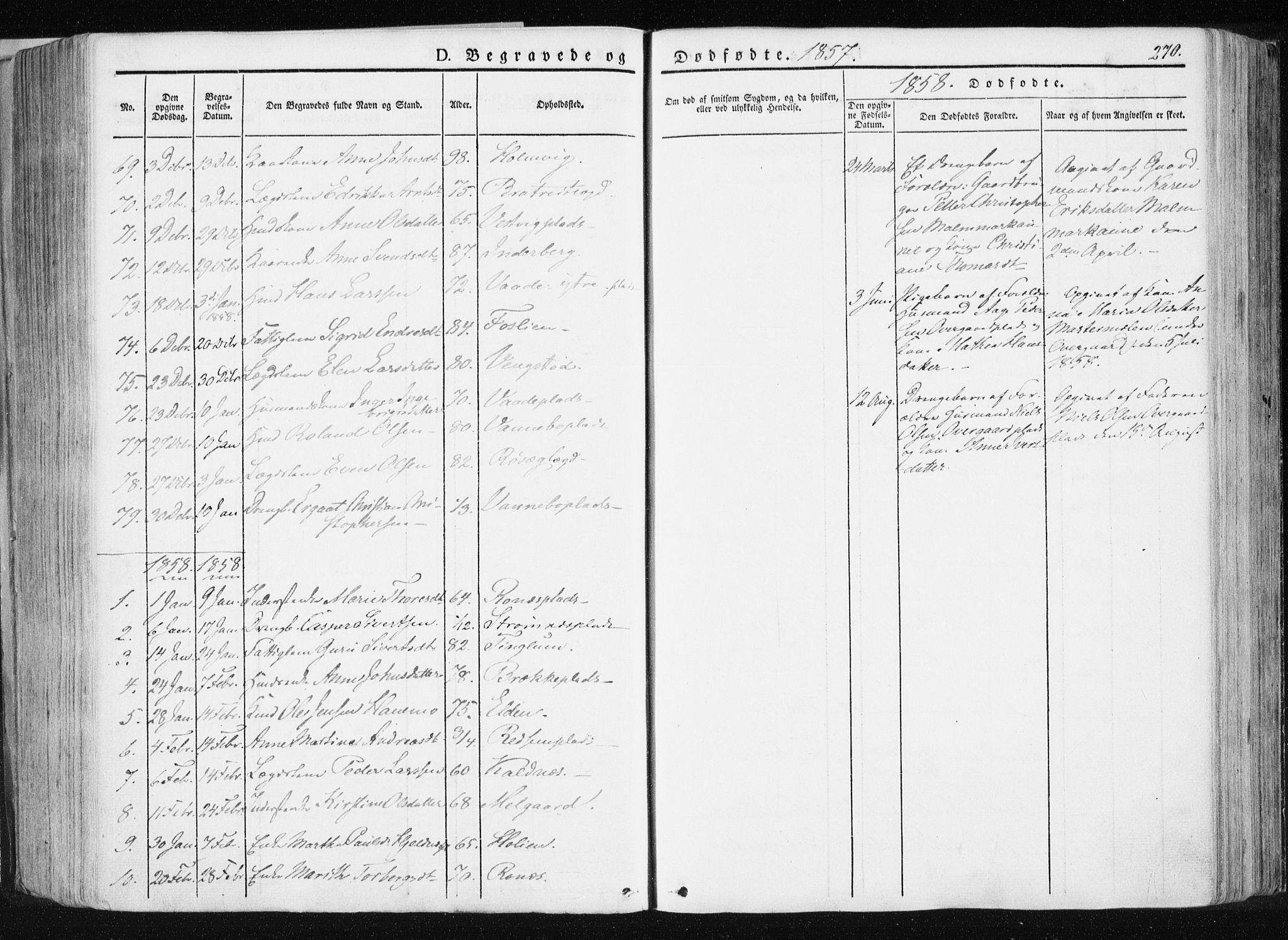 SAT, Ministerialprotokoller, klokkerbøker og fødselsregistre - Nord-Trøndelag, 741/L0393: Ministerialbok nr. 741A07, 1849-1863, s. 270