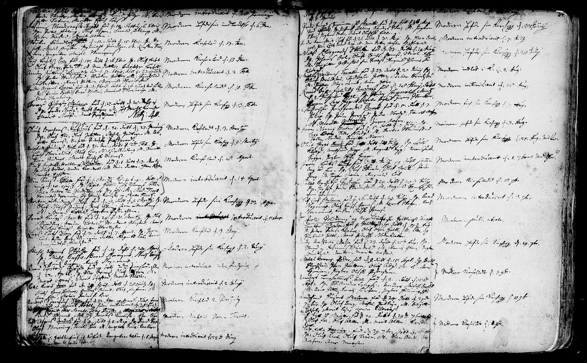 SAT, Ministerialprotokoller, klokkerbøker og fødselsregistre - Nord-Trøndelag, 746/L0439: Ministerialbok nr. 746A01, 1688-1759, s. 30