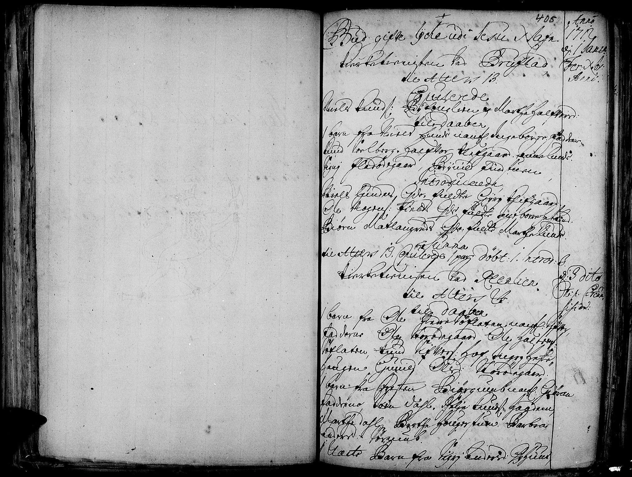SAH, Aurdal prestekontor, Ministerialbok nr. 1-3, 1692-1730, s. 405