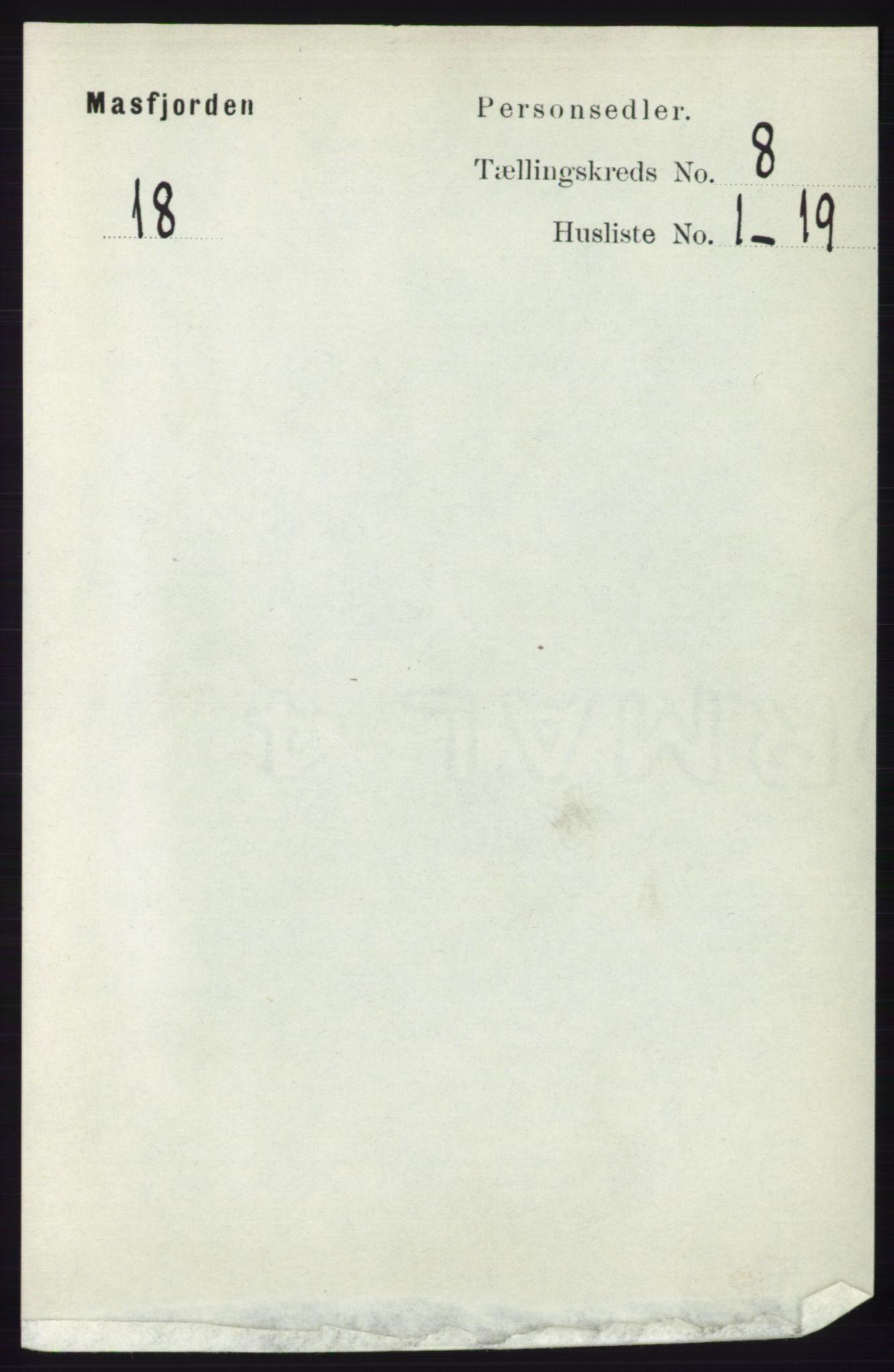 RA, Folketelling 1891 for 1266 Masfjorden herred, 1891, s. 1532
