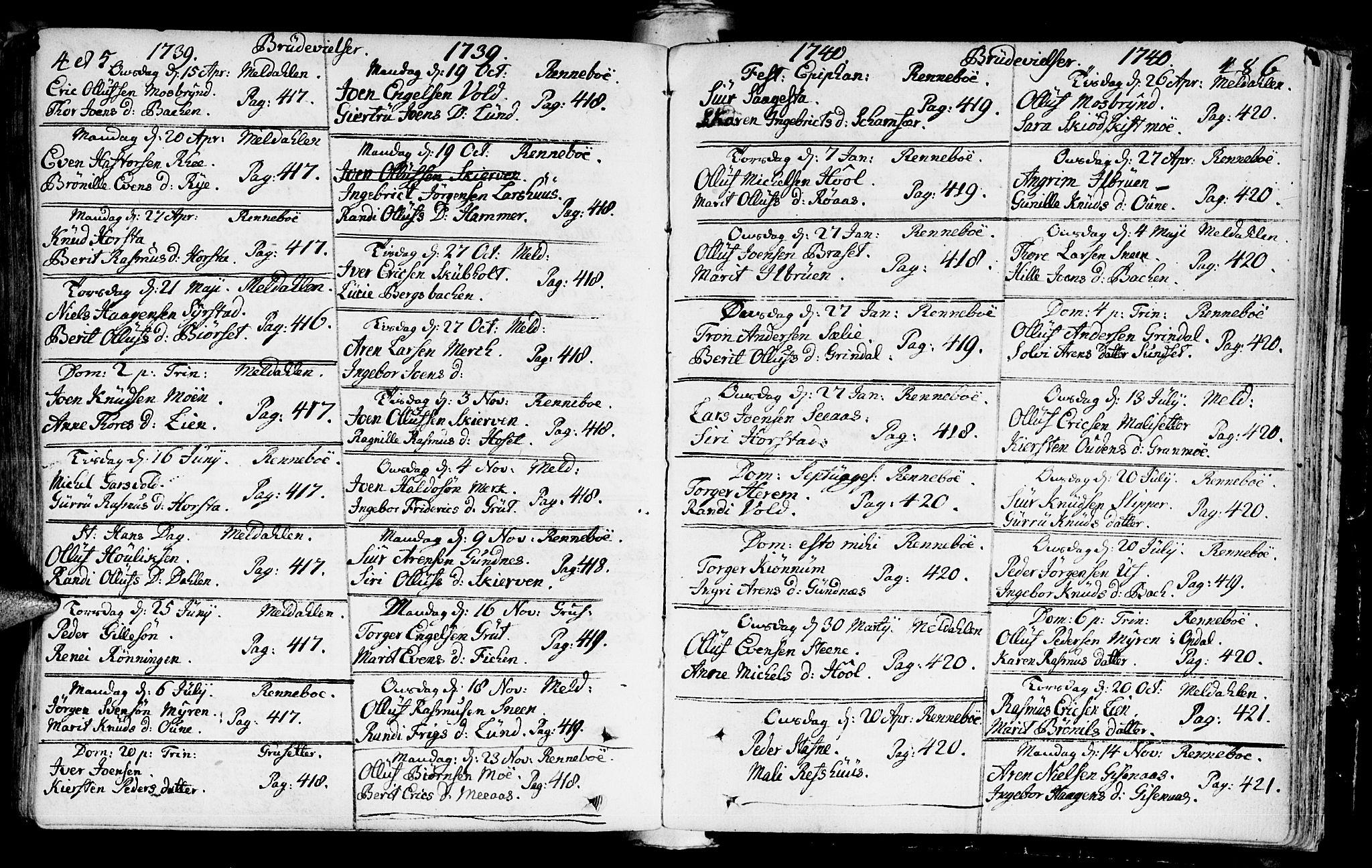 SAT, Ministerialprotokoller, klokkerbøker og fødselsregistre - Sør-Trøndelag, 672/L0850: Ministerialbok nr. 672A03, 1725-1751, s. 485-486