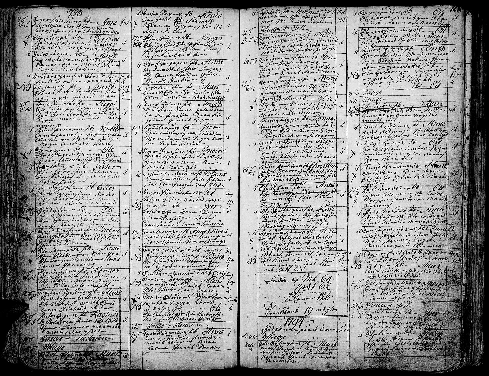 SAH, Vågå prestekontor, Ministerialbok nr. 1, 1739-1810, s. 123
