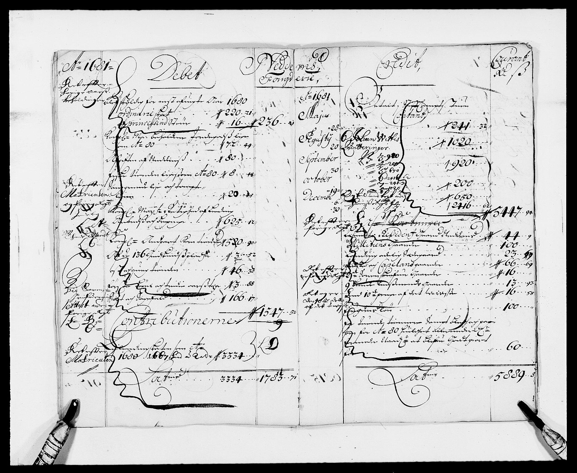 RA, Rentekammeret inntil 1814, Reviderte regnskaper, Fogderegnskap, R39/L2306: Fogderegnskap Nedenes, 1680-1683, s. 7