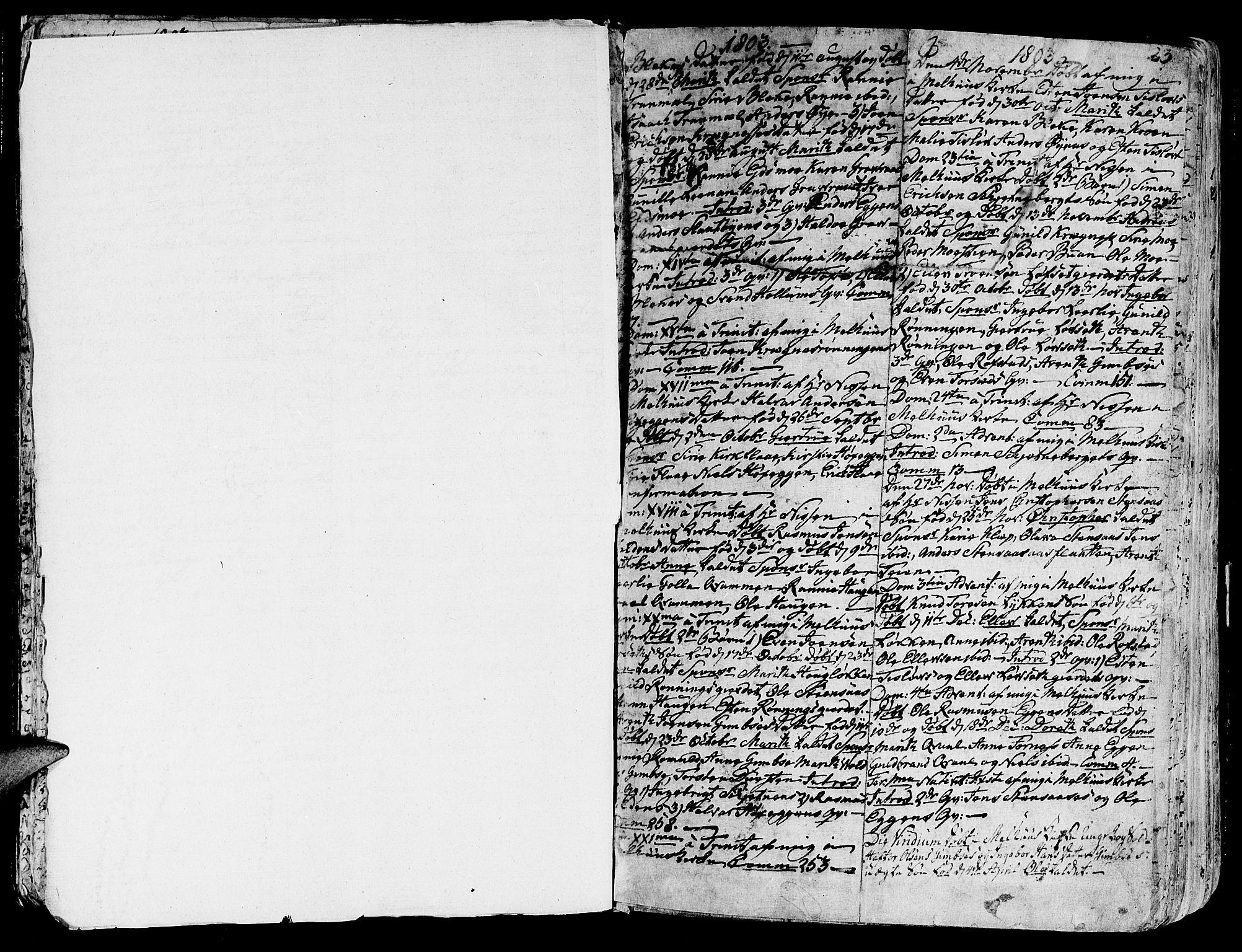 SAT, Ministerialprotokoller, klokkerbøker og fødselsregistre - Sør-Trøndelag, 691/L1061: Ministerialbok nr. 691A02 /1, 1768-1815, s. 23