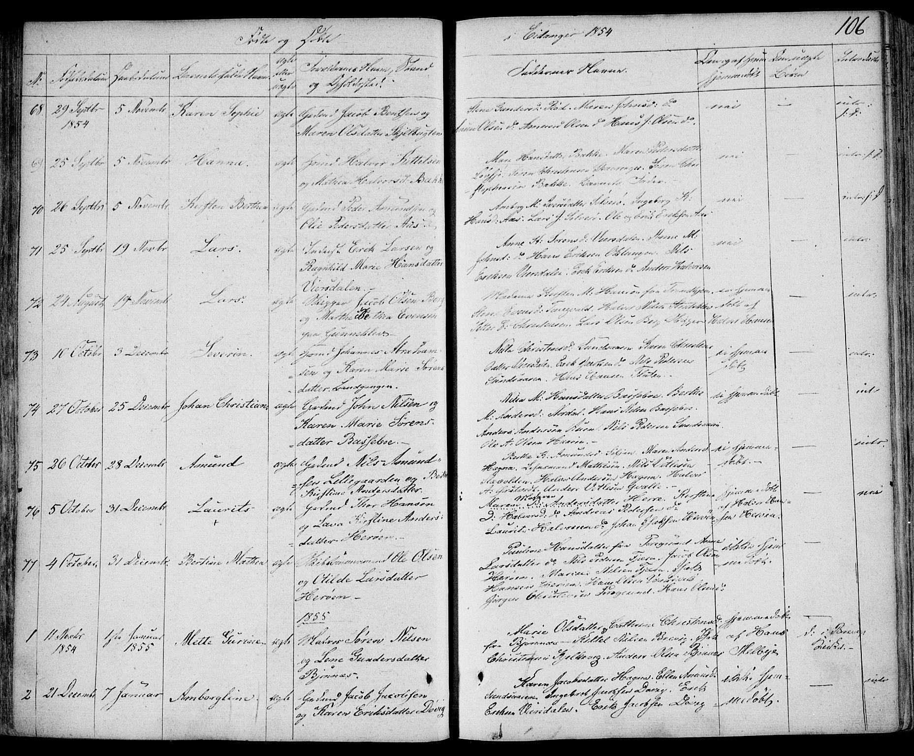SAKO, Eidanger kirkebøker, F/Fa/L0008: Ministerialbok nr. 8, 1831-1858, s. 106