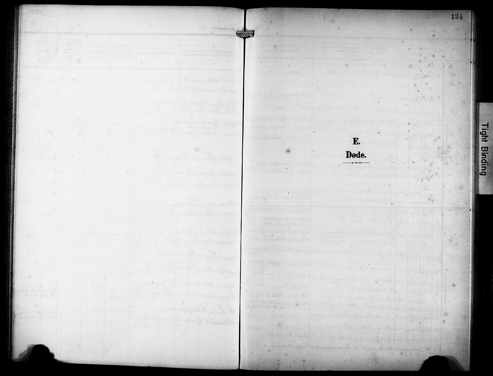 SAST, Haugesund sokneprestkontor, H/Ha/Hab/L0008: Klokkerbok nr. B 8, 1909-1921, s. 124