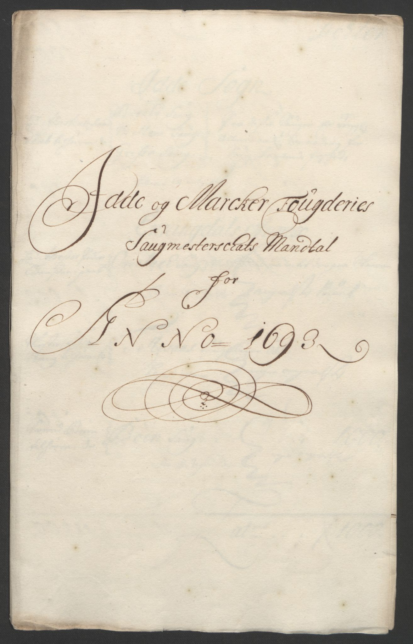 RA, Rentekammeret inntil 1814, Reviderte regnskaper, Fogderegnskap, R01/L0011: Fogderegnskap Idd og Marker, 1692-1693, s. 288