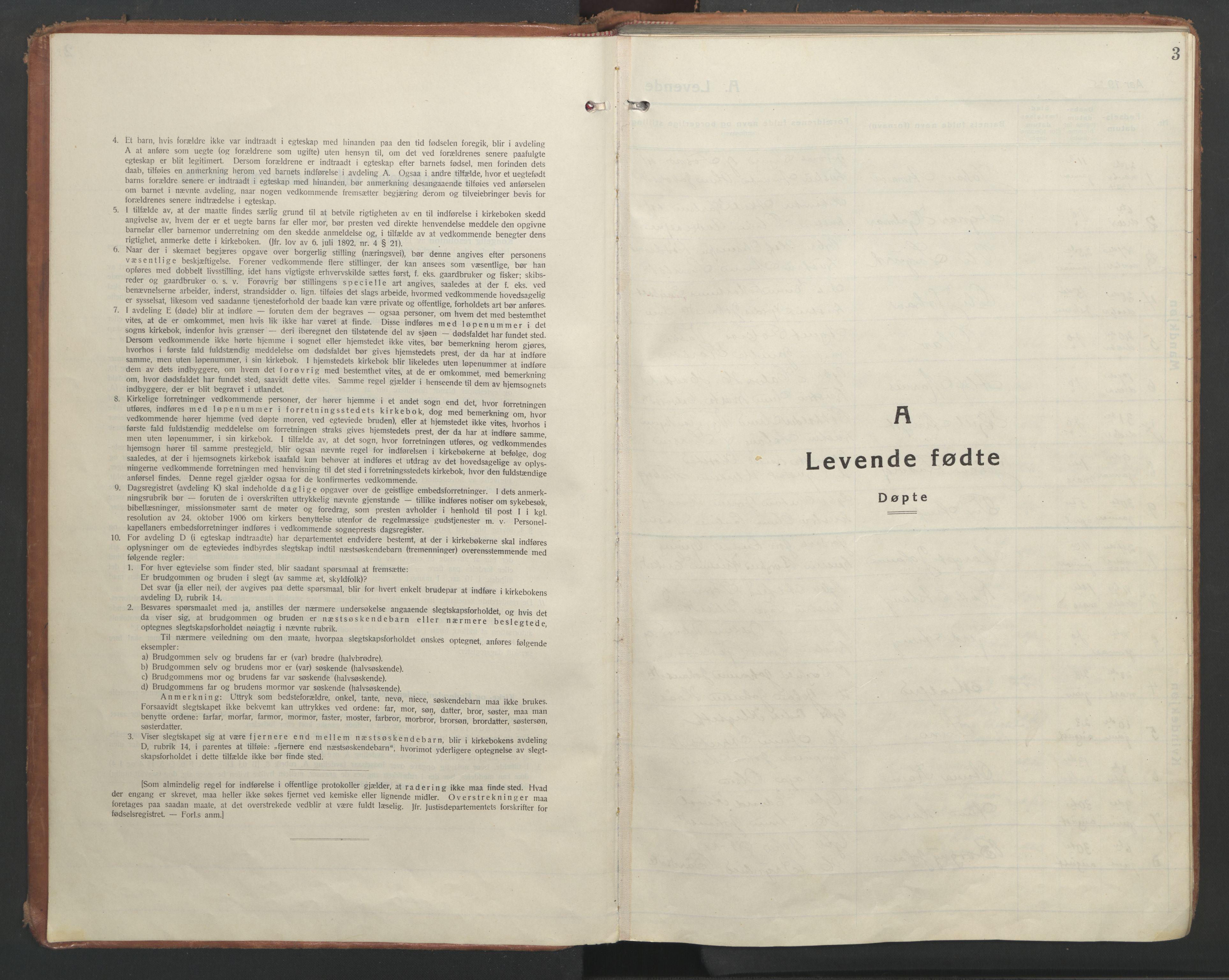SAT, Ministerialprotokoller, klokkerbøker og fødselsregistre - Nord-Trøndelag, 710/L0097: Klokkerbok nr. 710C02, 1925-1955, s. 3