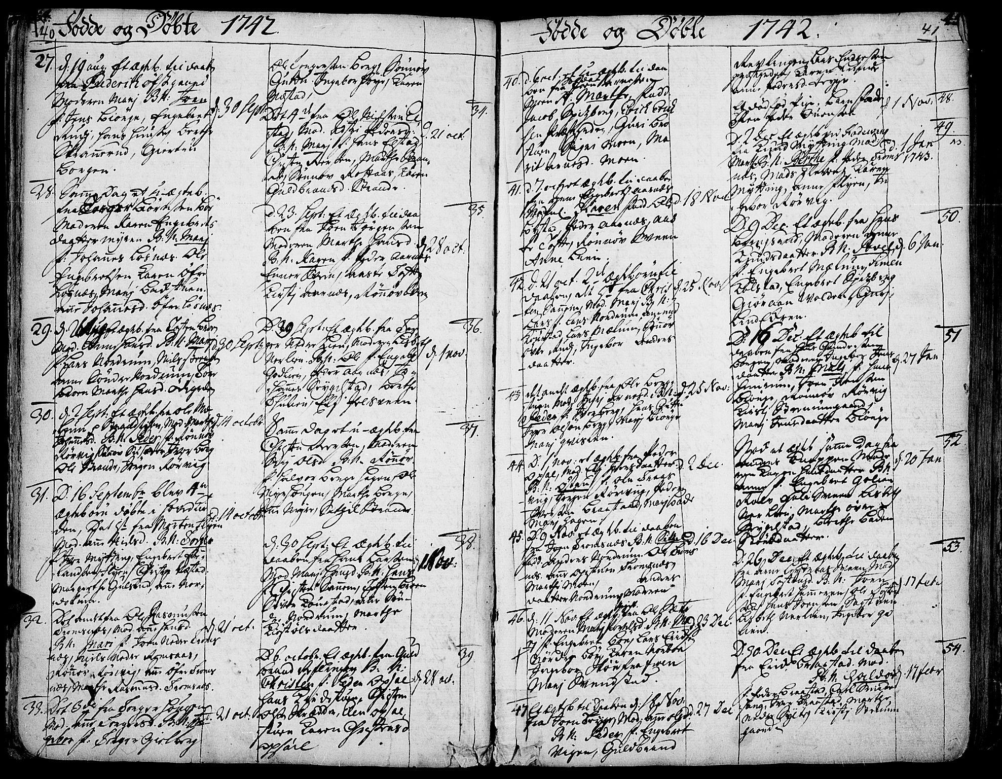 SAH, Ringebu prestekontor, Ministerialbok nr. 2, 1734-1780, s. 40-41