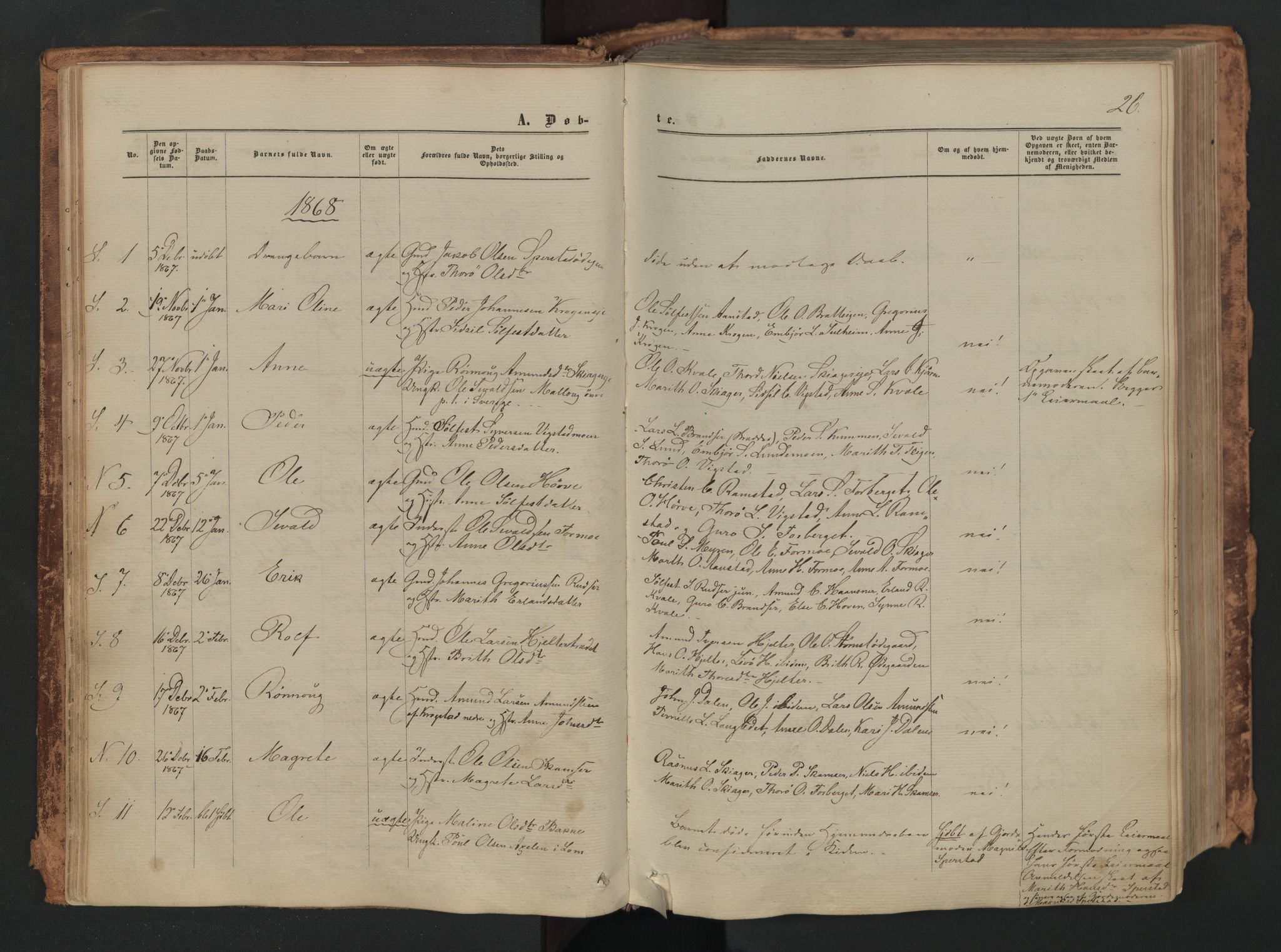 SAH, Skjåk prestekontor, Ministerialbok nr. 1, 1863-1879, s. 26