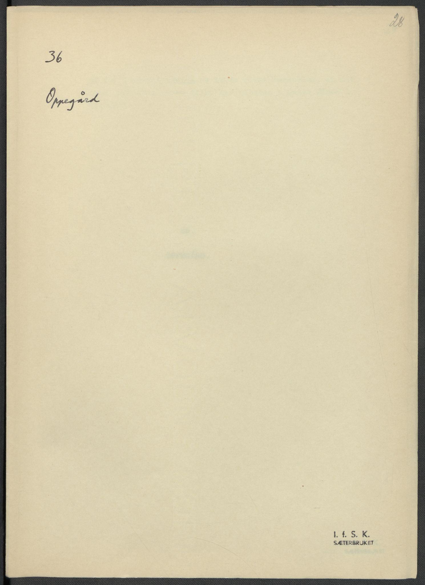 RA, Instituttet for sammenlignende kulturforskning, F/Fc/L0002: Eske B2:, 1932-1936, s. 28
