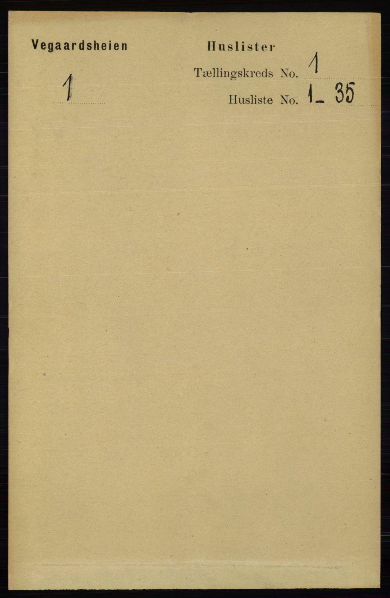 RA, Folketelling 1891 for 0912 Vegårshei herred, 1891, s. 28