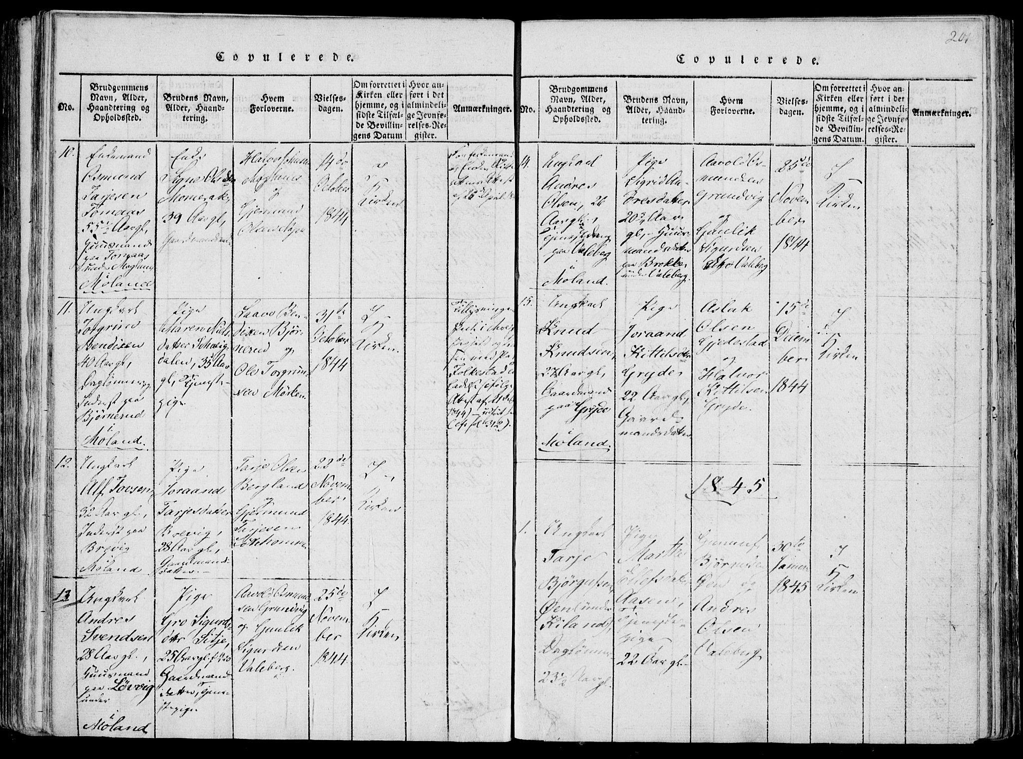 SAKO, Fyresdal kirkebøker, F/Fa/L0004: Ministerialbok nr. I 4, 1815-1854, s. 201
