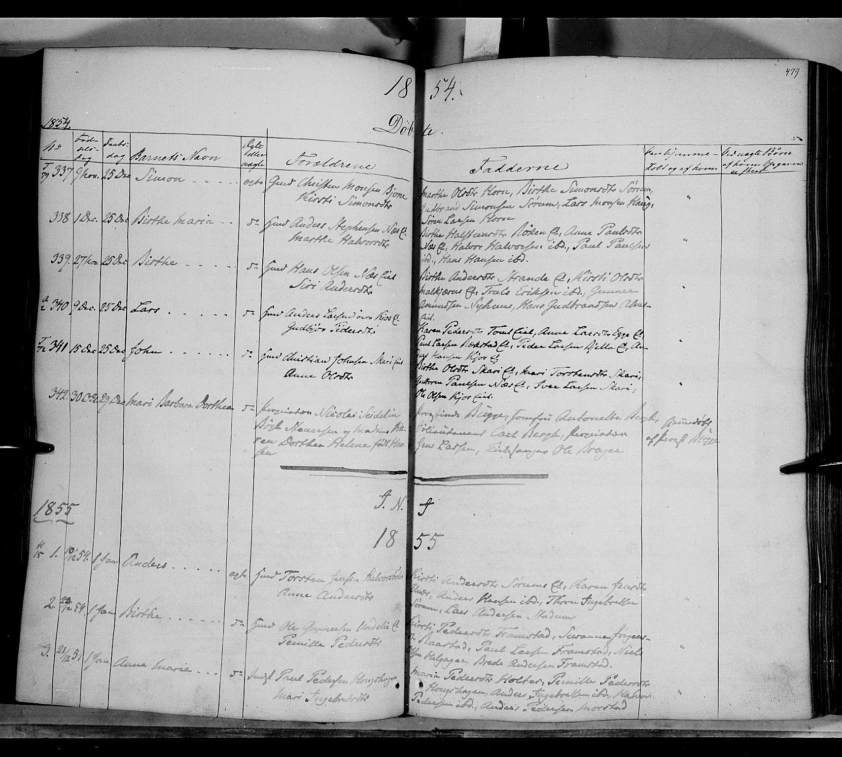 SAH, Gran prestekontor, Ministerialbok nr. 11, 1842-1856, s. 478-479