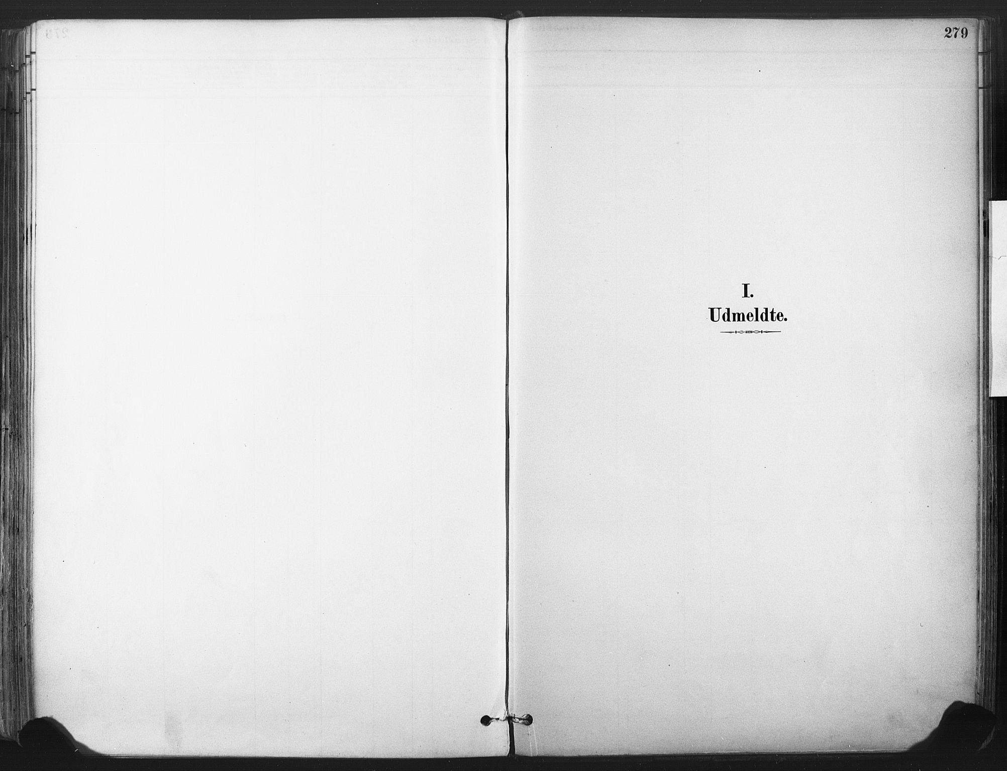 SAKO, Larvik kirkebøker, F/Fa/L0010: Ministerialbok nr. I 10, 1884-1910, s. 279