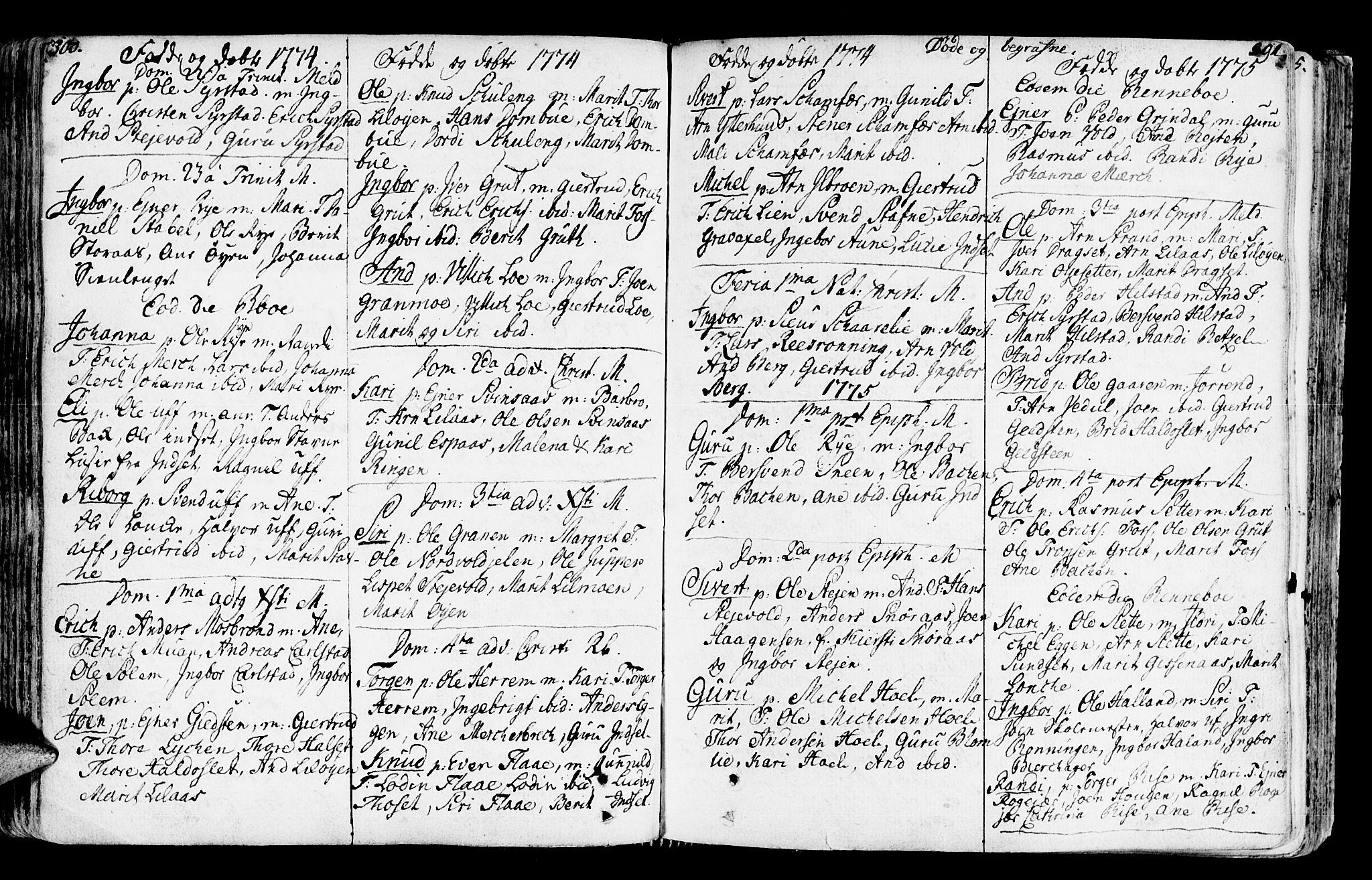 SAT, Ministerialprotokoller, klokkerbøker og fødselsregistre - Sør-Trøndelag, 672/L0851: Ministerialbok nr. 672A04, 1751-1775, s. 300-301