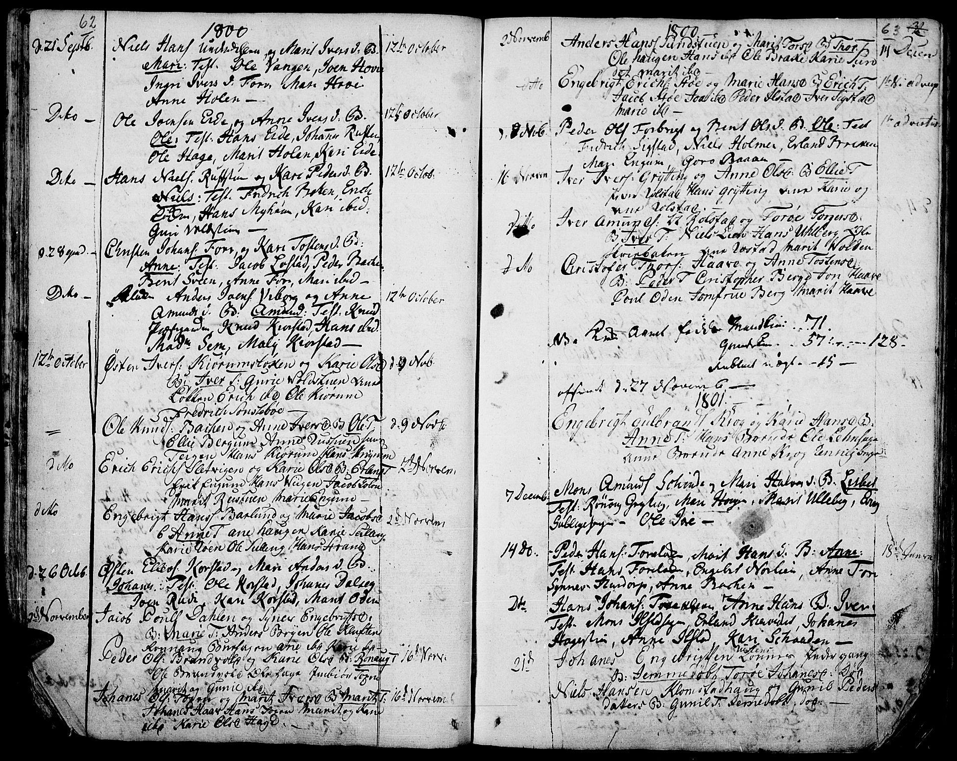 SAH, Fron prestekontor, H/Ha/Haa/L0001: Ministerialbok nr. 1, 1799-1816, s. 62-63