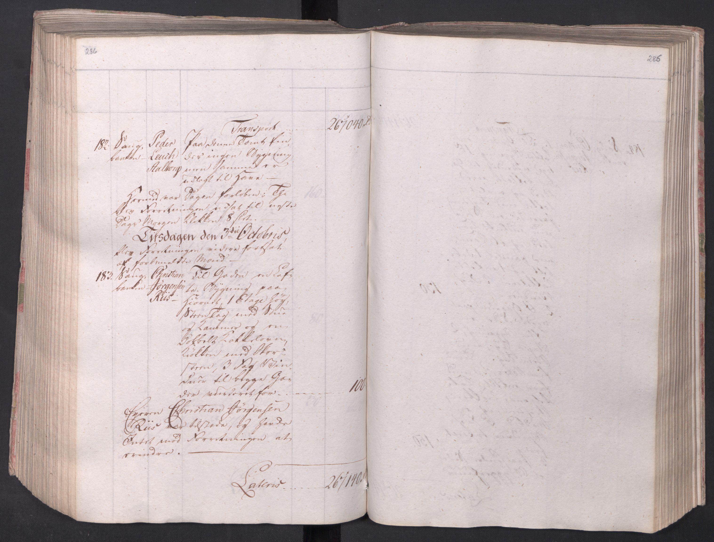 SAO, Kristiania stiftamt, I/Ia/L0015: Branntakster, 1797, s. 286