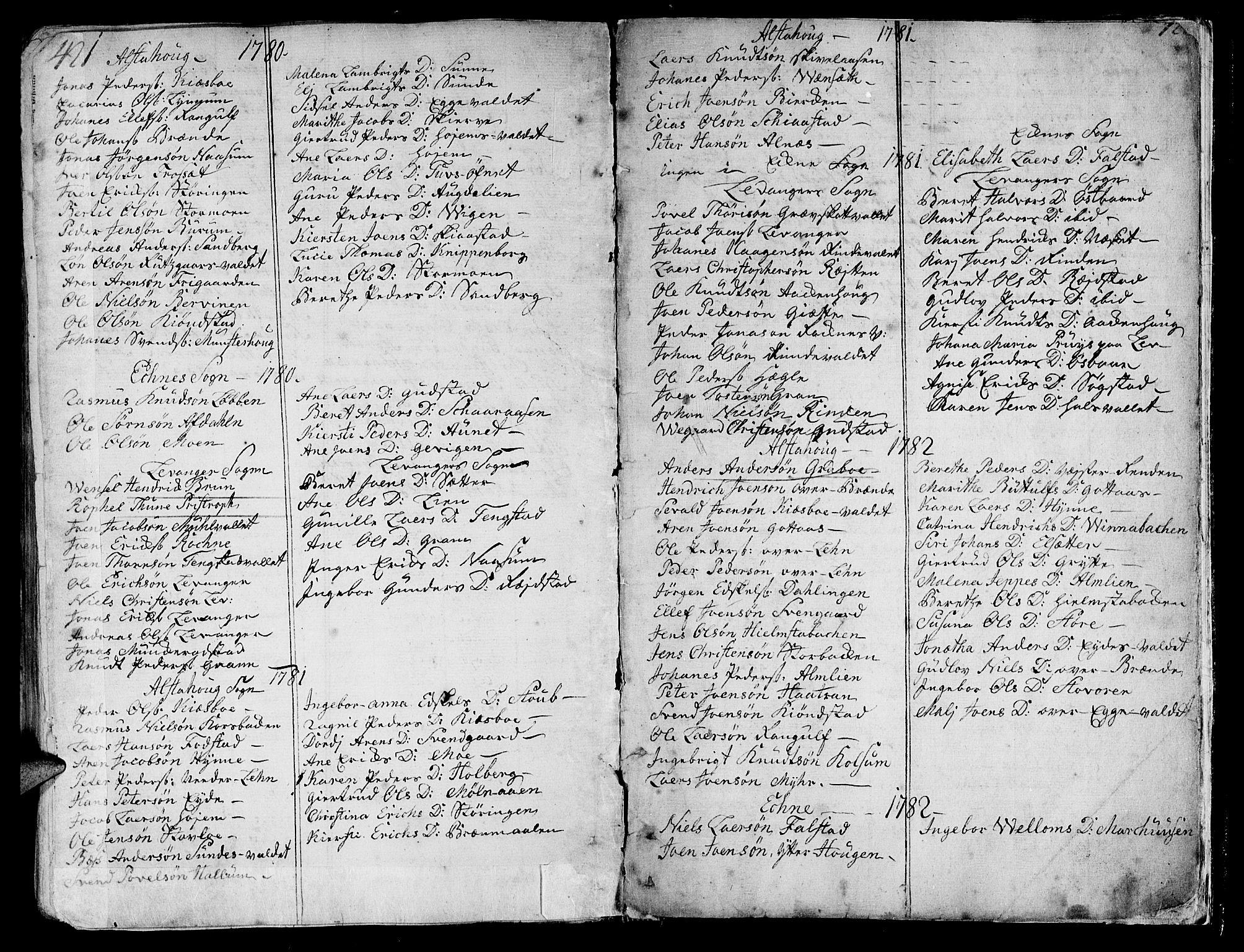 SAT, Ministerialprotokoller, klokkerbøker og fødselsregistre - Nord-Trøndelag, 717/L0141: Ministerialbok nr. 717A01, 1747-1803, s. 421-422