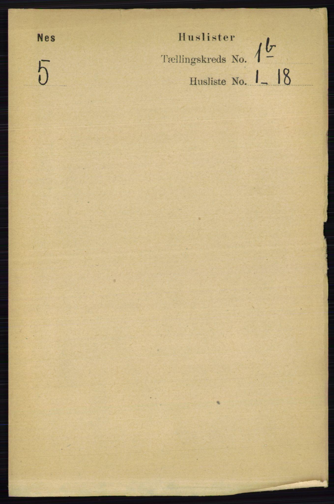 RA, Folketelling 1891 for 0236 Nes herred, 1891, s. 689