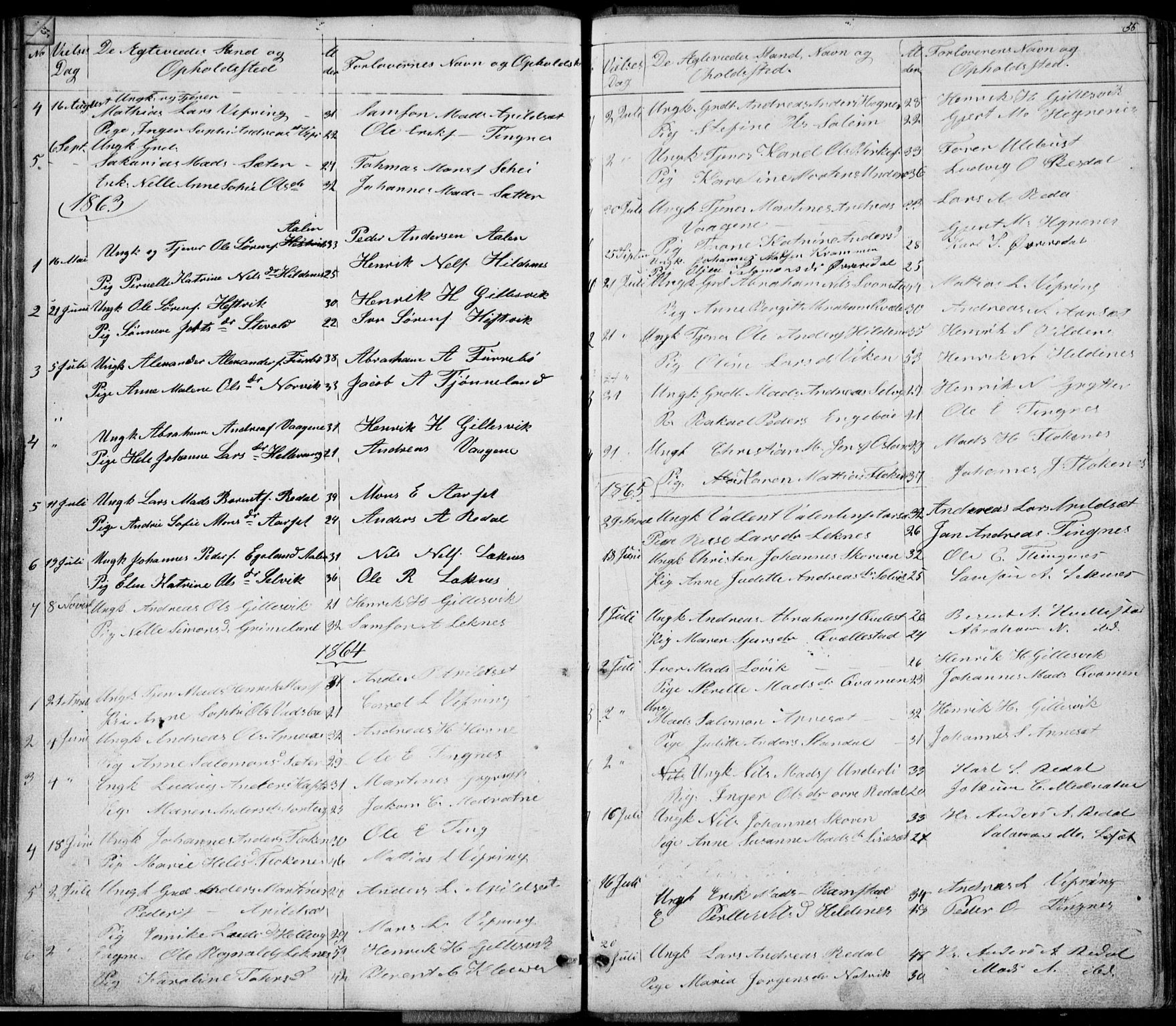 SAB, Førde Sokneprestembete, H/Hab: Klokkerbok nr. E 0, 1853-1880, s. 56