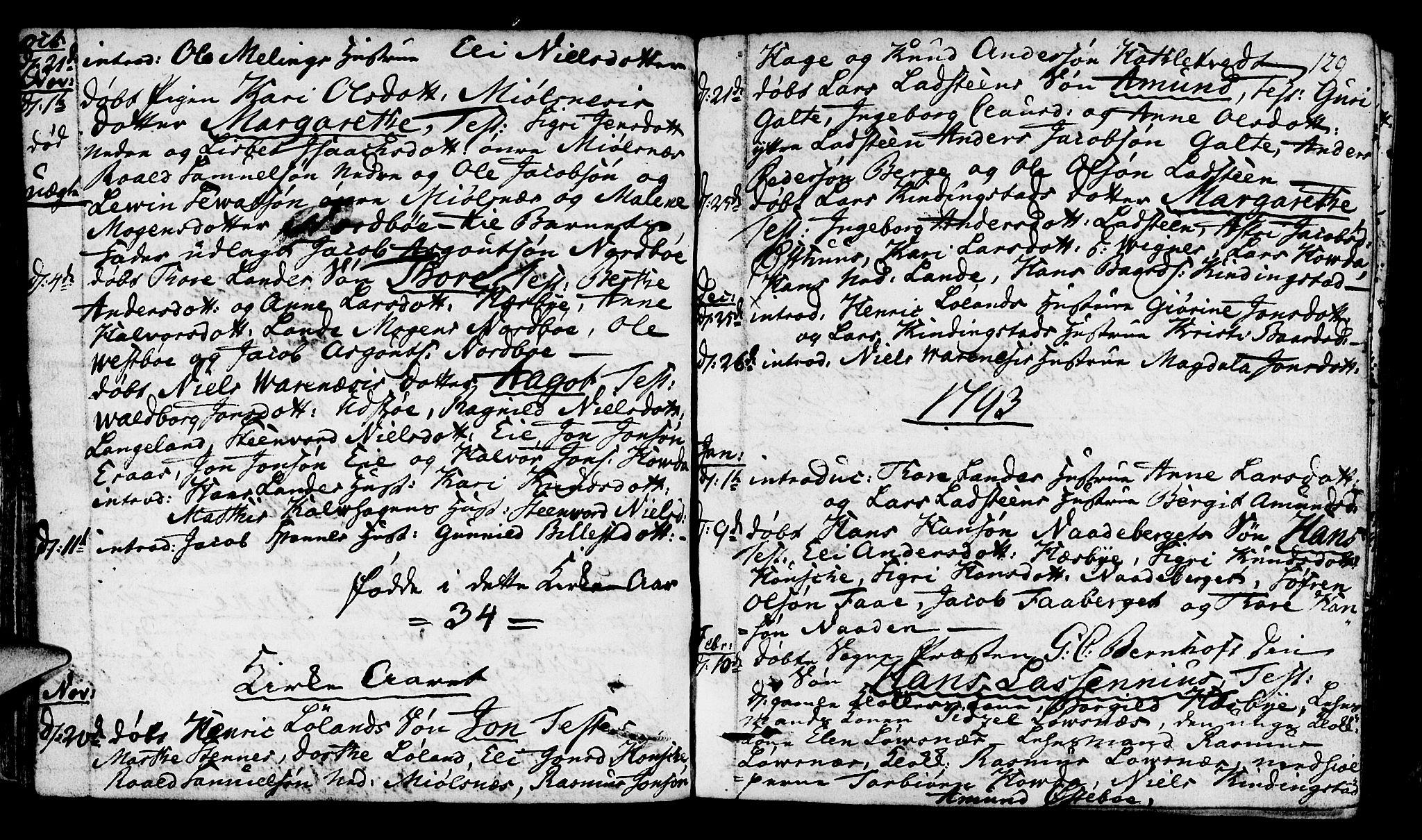 SAST, Finnøy sokneprestkontor, H/Ha/Haa/L0005: Ministerialbok nr. A 5, 1773-1816, s. 129