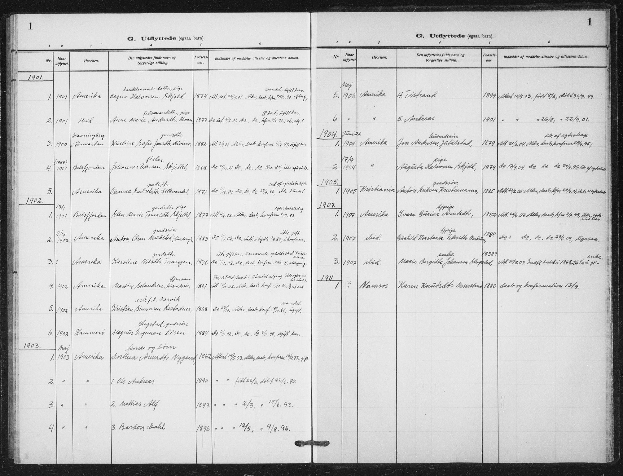 SATØ, Målselv sokneprestembete, G/Ga/Gab/L0012klokker: Klokkerbok nr. 12, 1900-1936, s. 1