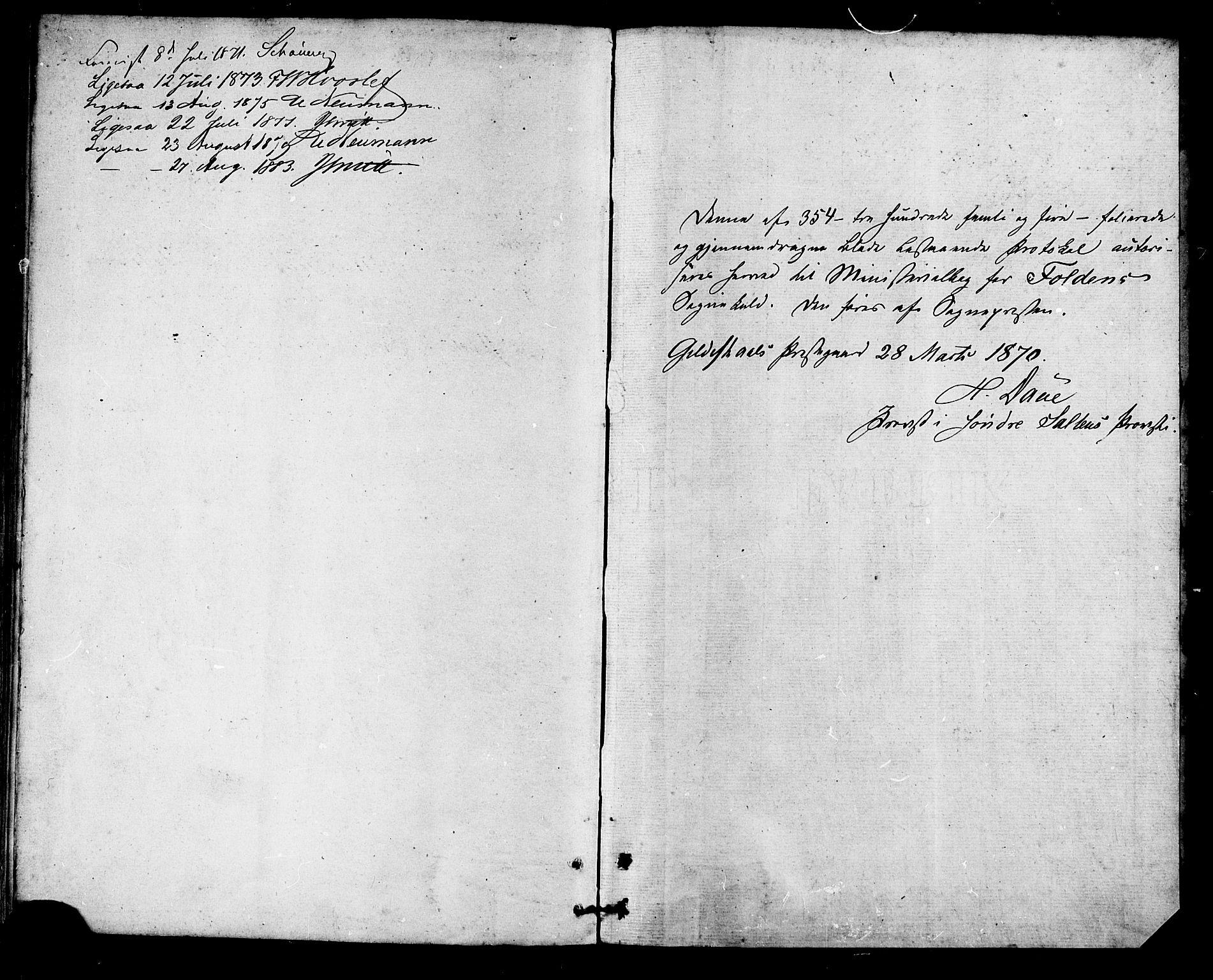 SAT, Ministerialprotokoller, klokkerbøker og fødselsregistre - Nordland, 853/L0771: Ministerialbok nr. 853A10, 1870-1881