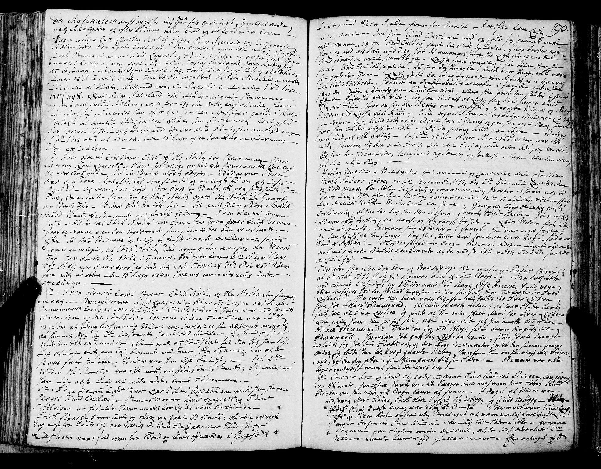 SAT, Romsdal sorenskriveri, 1/1A/L0012: Tingbok, 1740-1749, s. 190b-191a