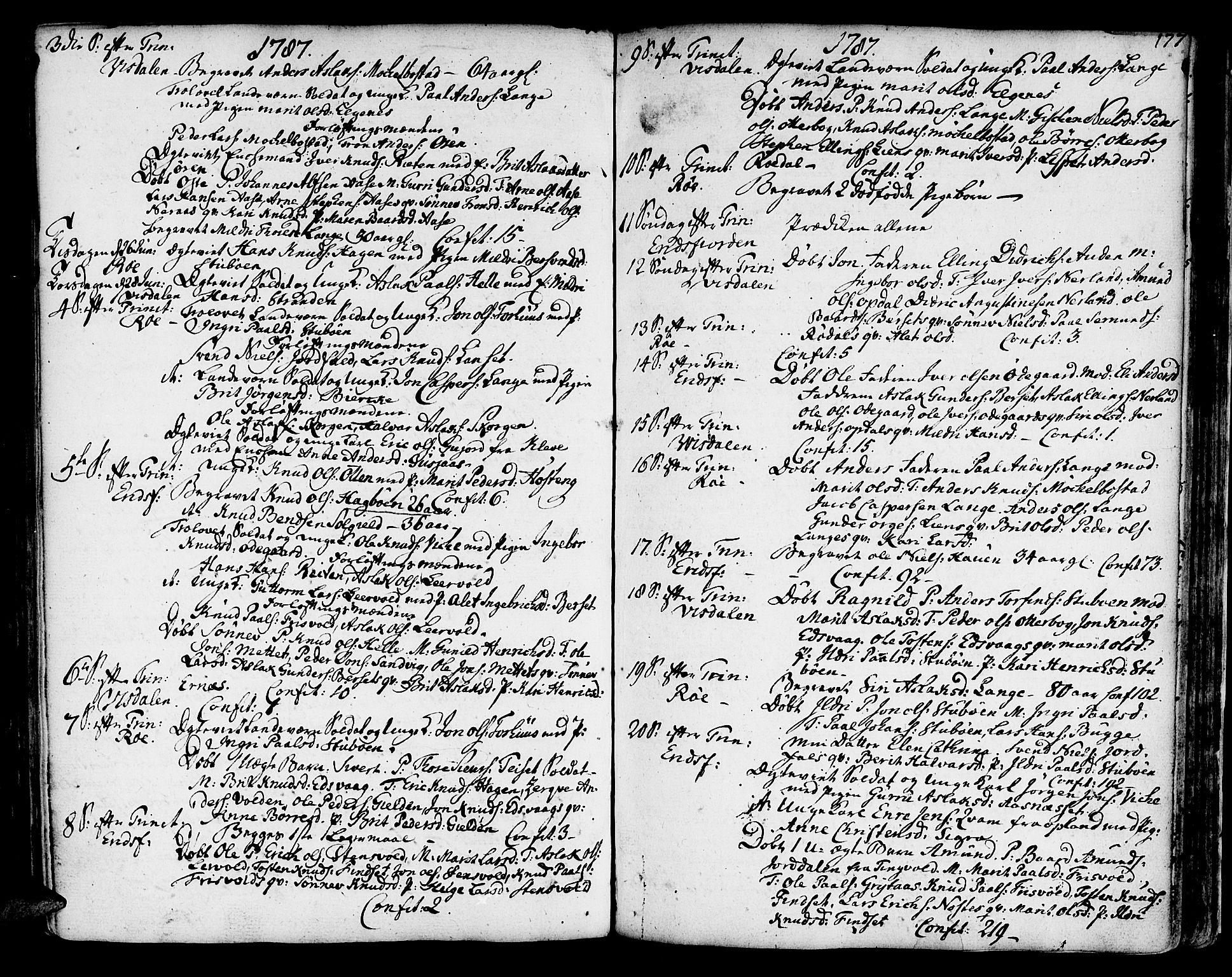 SAT, Ministerialprotokoller, klokkerbøker og fødselsregistre - Møre og Romsdal, 551/L0621: Ministerialbok nr. 551A01, 1757-1803, s. 177