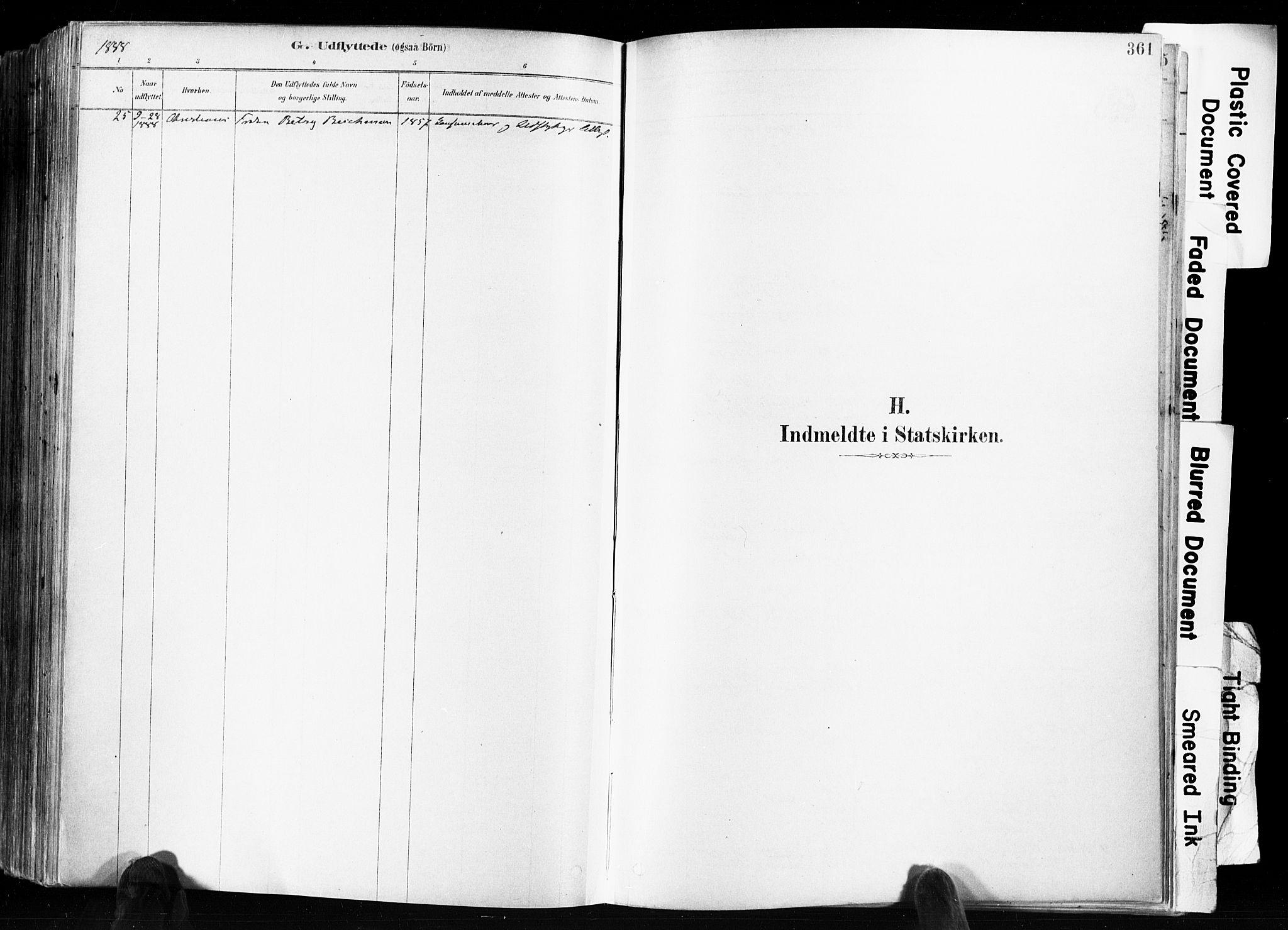 SAKO, Skien kirkebøker, F/Fa/L0009: Ministerialbok nr. 9, 1878-1890, s. 361