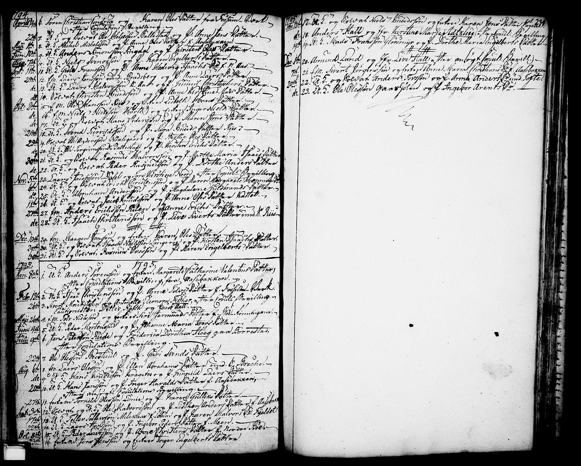 SAKO, Gjerpen kirkebøker, F/Fa/L0002: Ministerialbok nr. 2, 1747-1795, s. 234