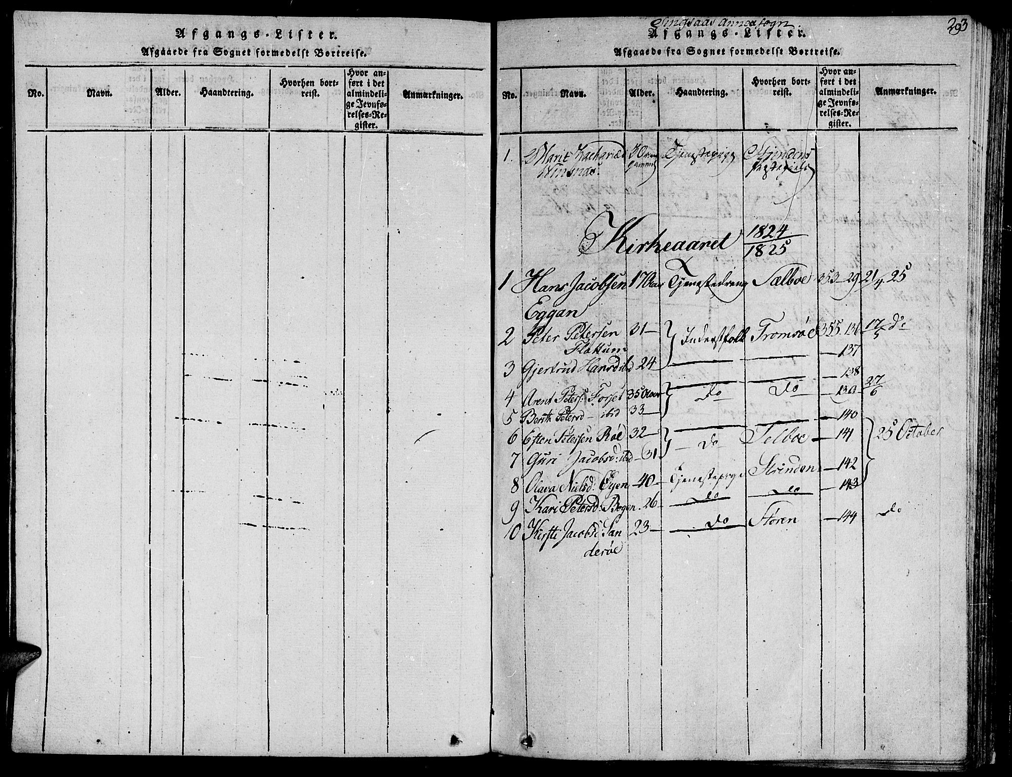 SAT, Ministerialprotokoller, klokkerbøker og fødselsregistre - Sør-Trøndelag, 685/L0955: Ministerialbok nr. 685A03 /2, 1817-1829, s. 293