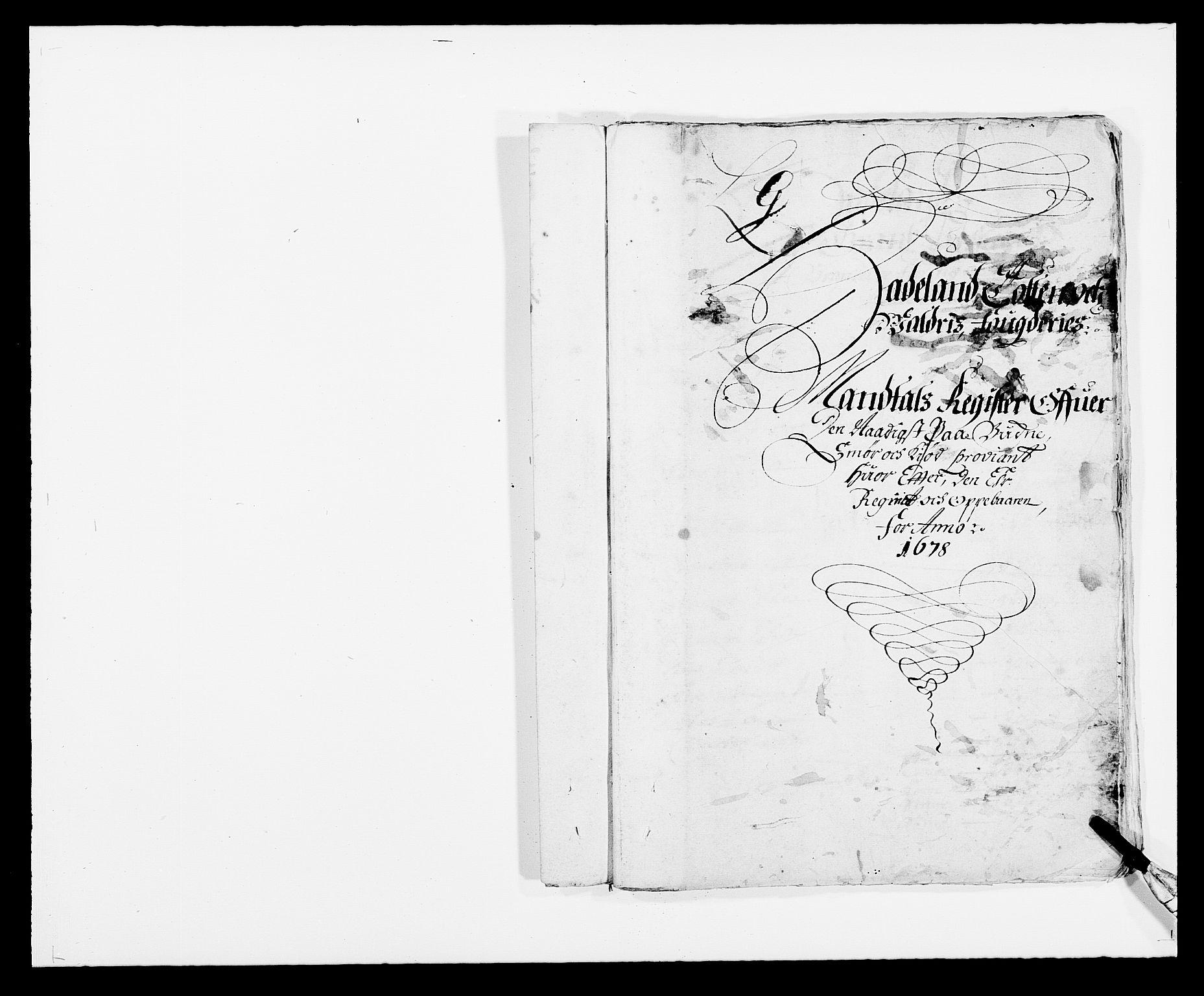 RA, Rentekammeret inntil 1814, Reviderte regnskaper, Fogderegnskap, R18/L1270: Fogderegnskap Hadeland, Toten og Valdres, 1678, s. 419