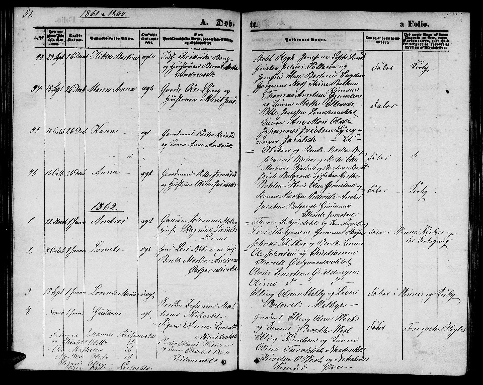 SAT, Ministerialprotokoller, klokkerbøker og fødselsregistre - Nord-Trøndelag, 723/L0254: Klokkerbok nr. 723C02, 1858-1868, s. 51