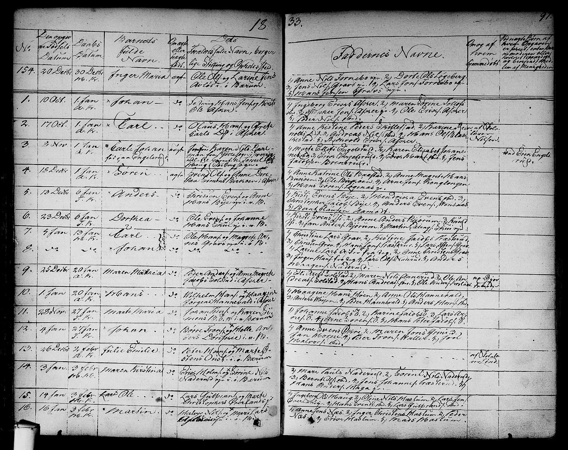 SAO, Asker prestekontor Kirkebøker, F/Fa/L0007: Ministerialbok nr. I 7, 1825-1864, s. 97