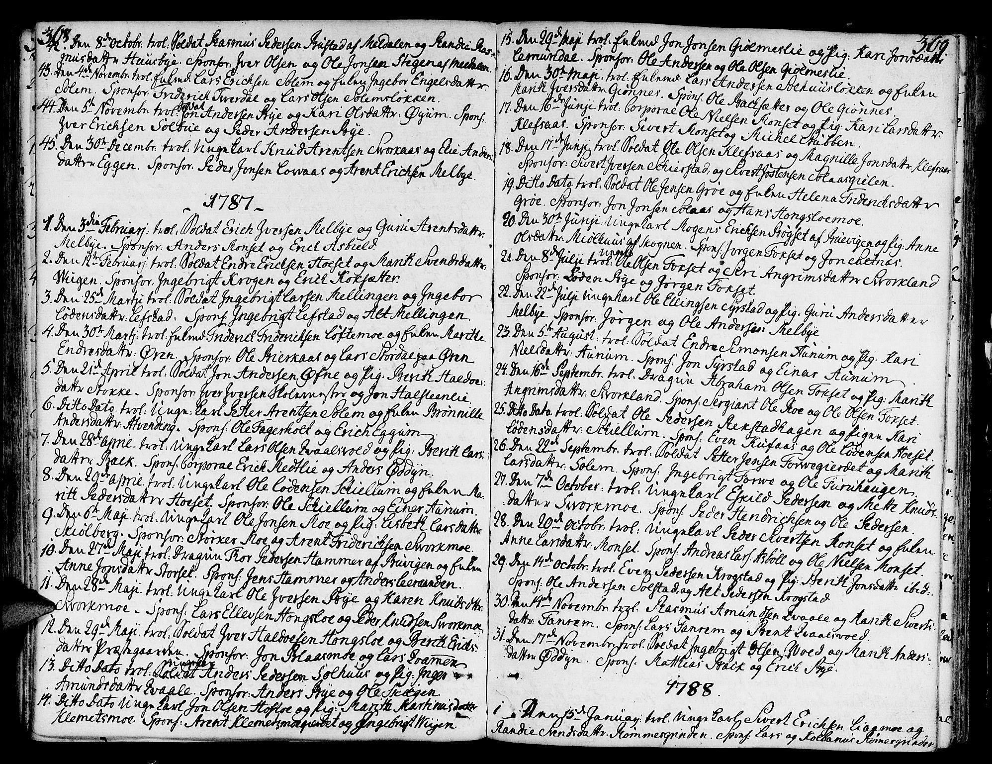 SAT, Ministerialprotokoller, klokkerbøker og fødselsregistre - Sør-Trøndelag, 668/L0802: Ministerialbok nr. 668A02, 1776-1799, s. 368-369