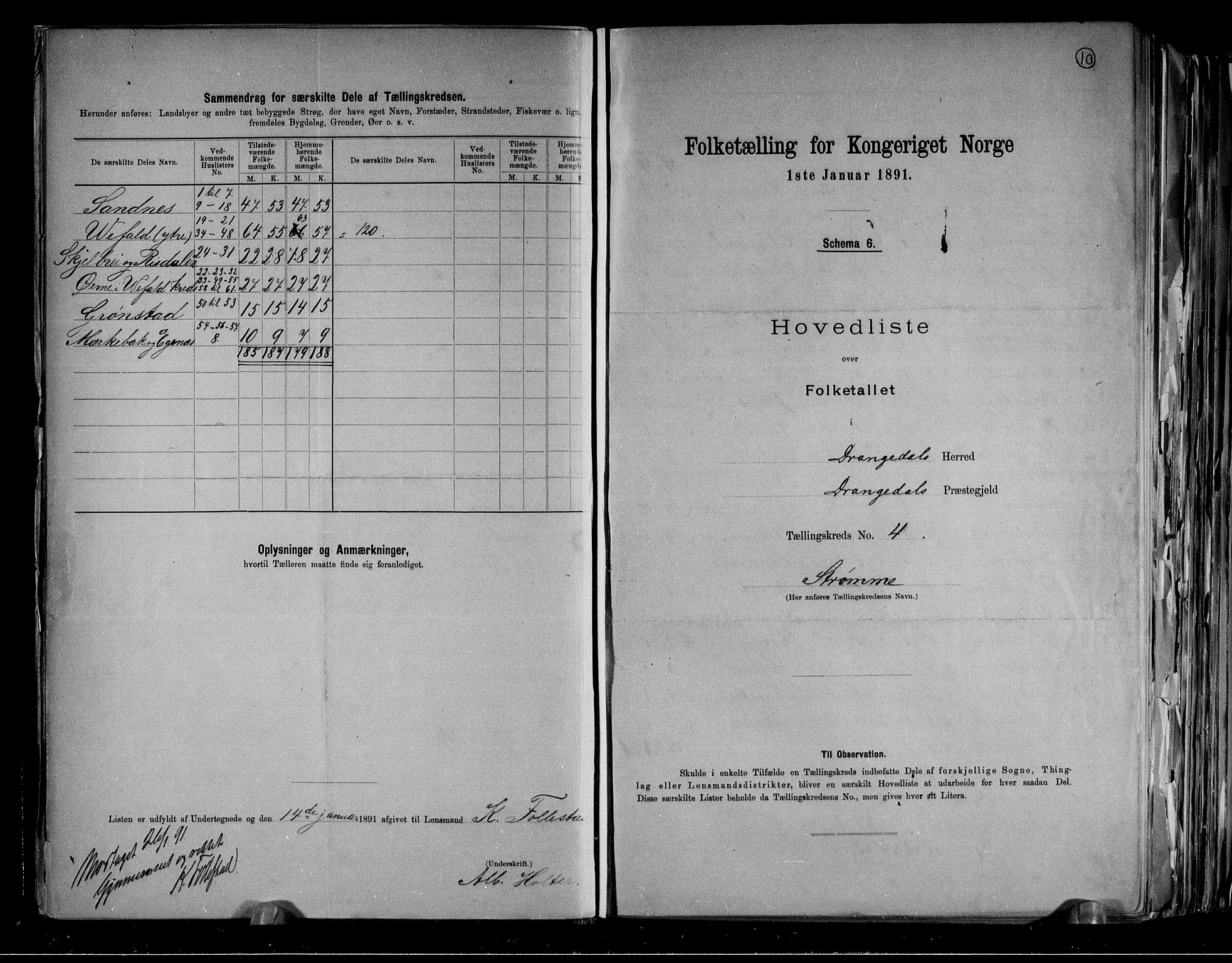 RA, Folketelling 1891 for 0817 Drangedal herred, 1891, s. 10