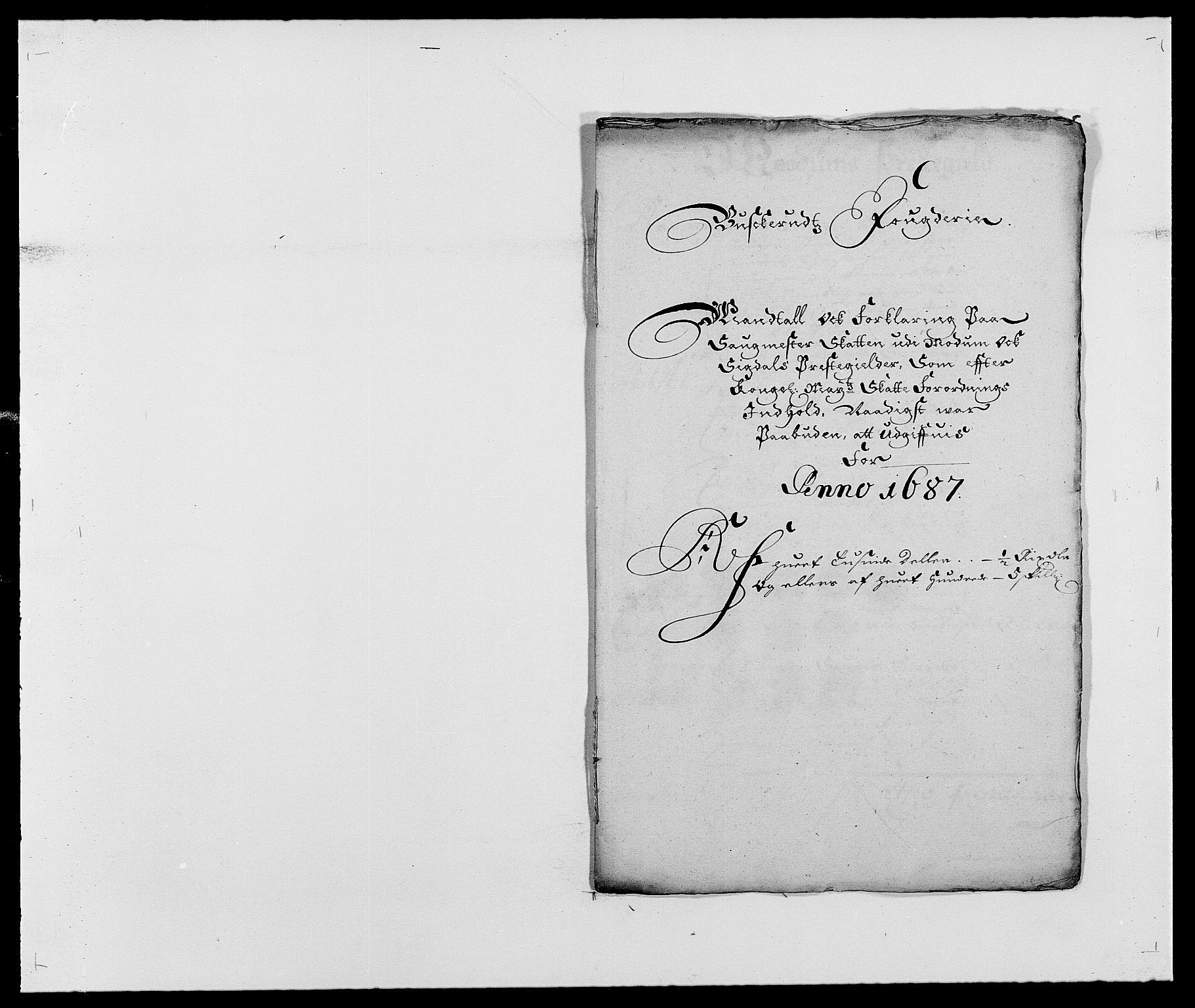 RA, Rentekammeret inntil 1814, Reviderte regnskaper, Fogderegnskap, R25/L1679: Fogderegnskap Buskerud, 1687-1688, s. 203