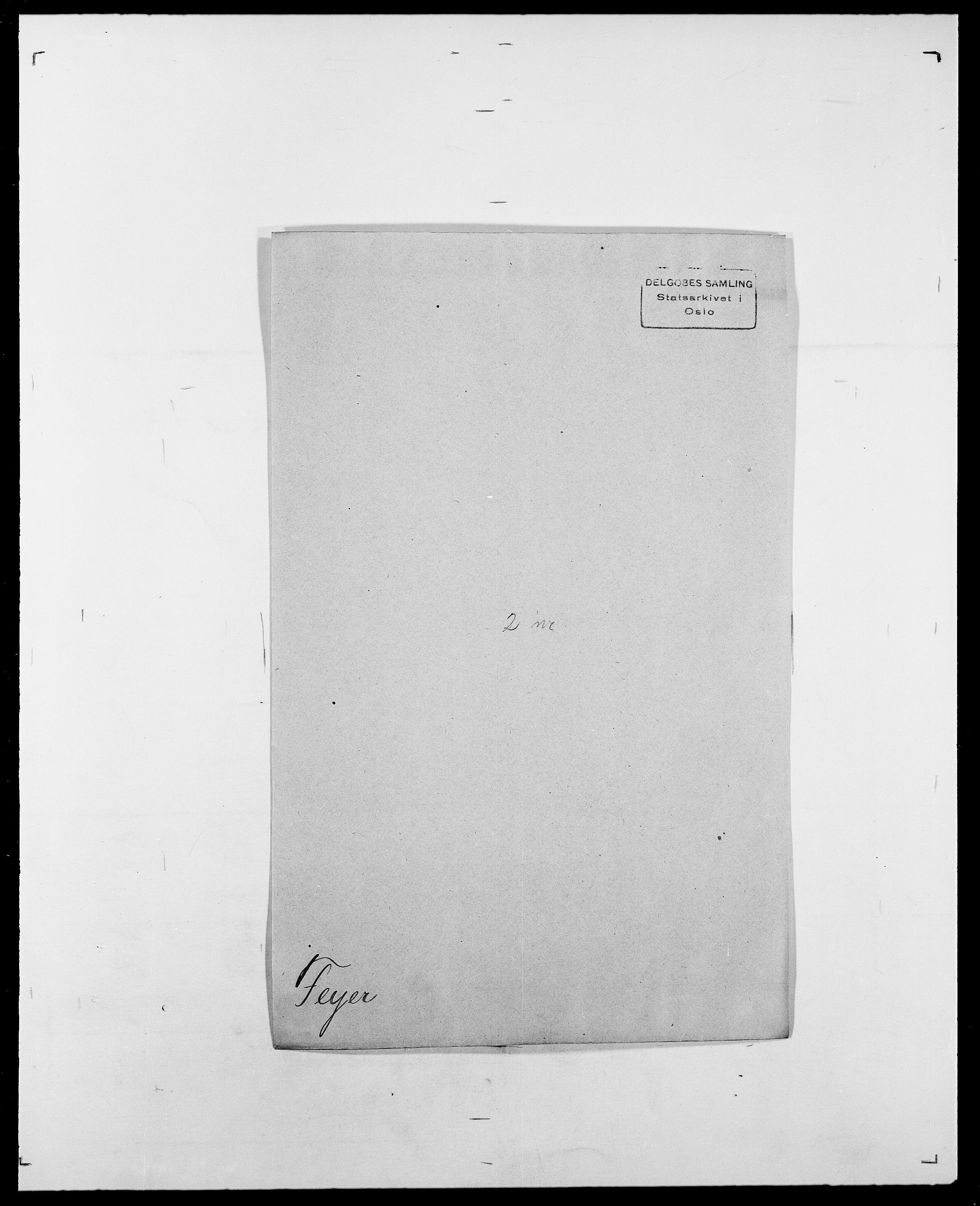 SAO, Delgobe, Charles Antoine - samling, D/Da/L0011: Fahlander - Flood, Flod, s. 403