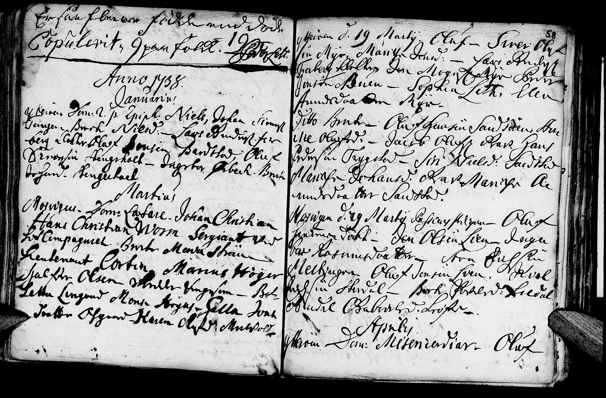 SAT, Ministerialprotokoller, klokkerbøker og fødselsregistre - Nord-Trøndelag, 722/L0215: Ministerialbok nr. 722A02, 1718-1755, s. 58