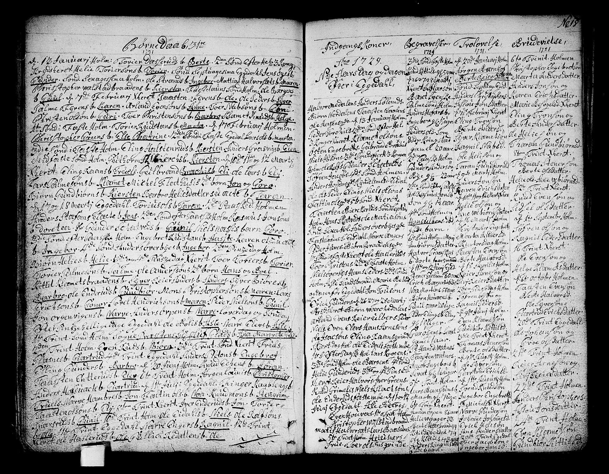 SAKO, Sigdal kirkebøker, F/Fa/L0001: Ministerialbok nr. I 1, 1722-1777, s. 18