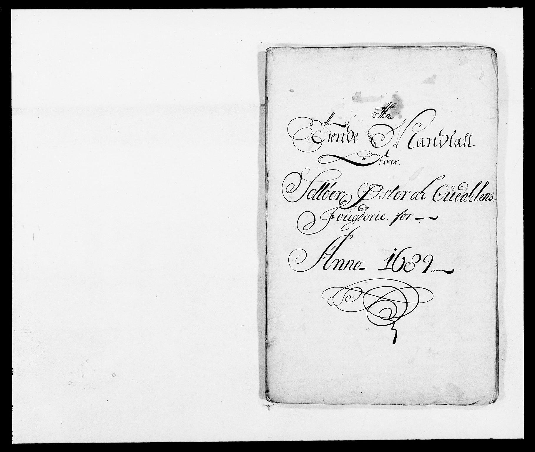 RA, Rentekammeret inntil 1814, Reviderte regnskaper, Fogderegnskap, R13/L0827: Fogderegnskap Solør, Odal og Østerdal, 1689, s. 180