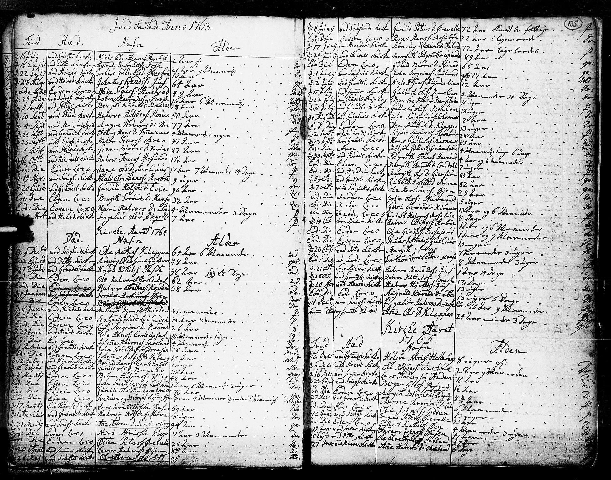 SAKO, Hjartdal kirkebøker, F/Fa/L0003: Ministerialbok nr. I 3, 1727-1775, s. 135